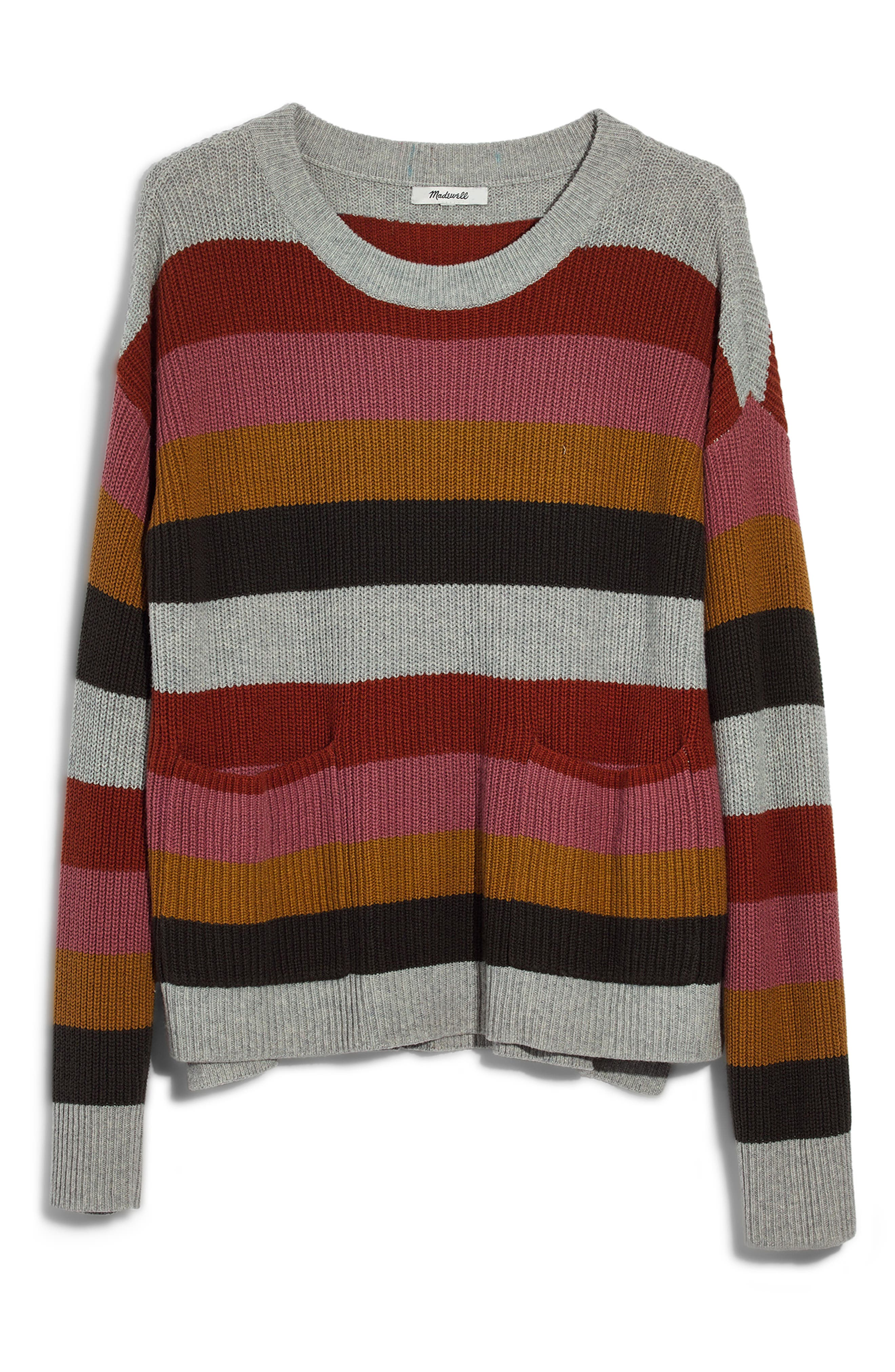 Patch Pocket Pullover Sweater,                             Main thumbnail 1, color,                             ARCTIC ICE