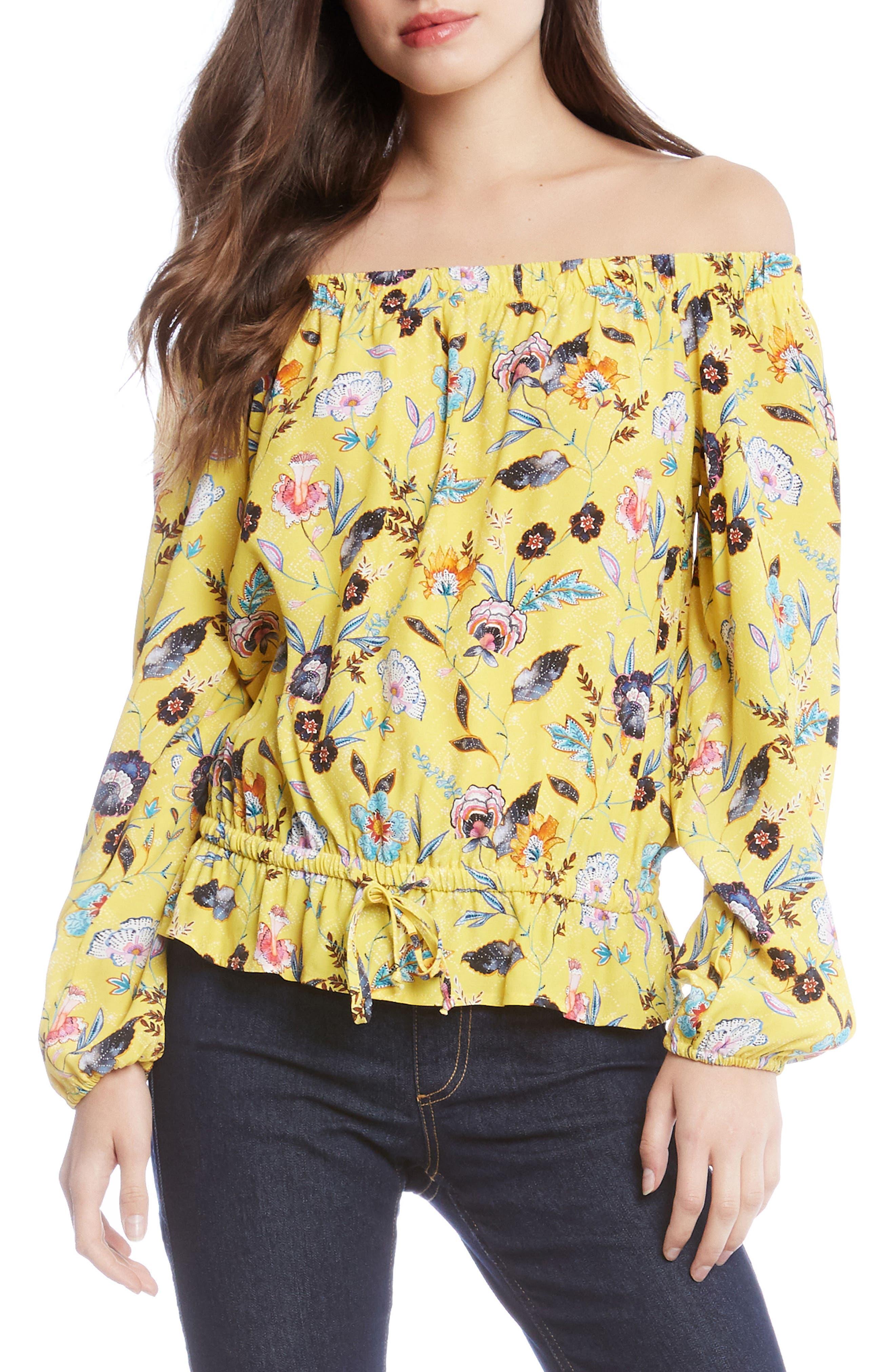 Lemonade Floral Blouson Top,                         Main,                         color, 760