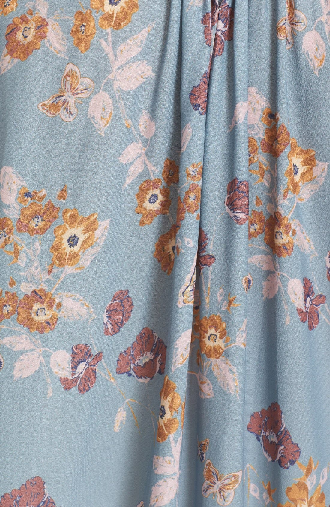 Floral Print Smocked Tunic,                             Alternate thumbnail 5, color,                             400