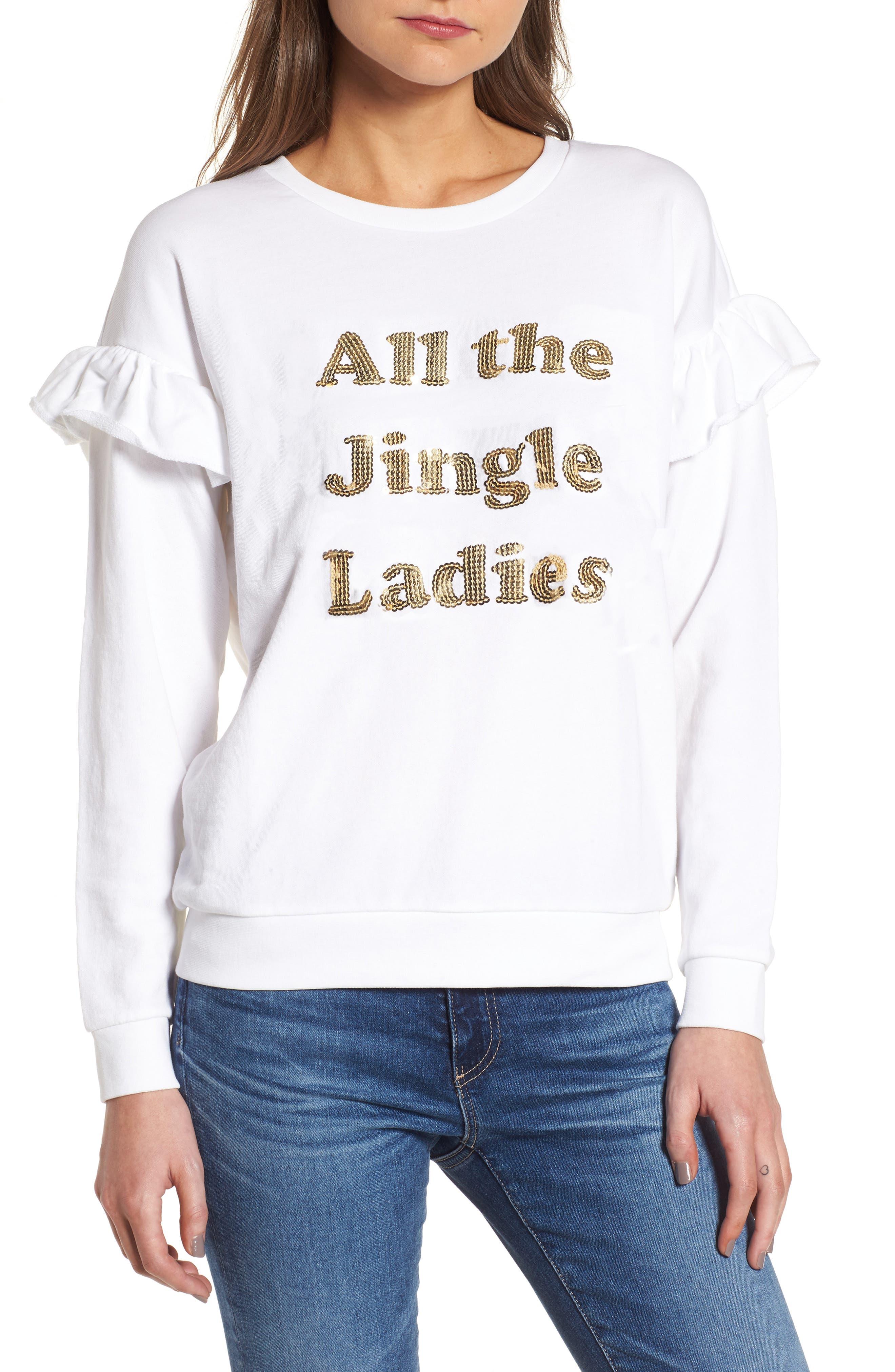 All the Jingle Ladies Sweatshirt,                         Main,                         color,