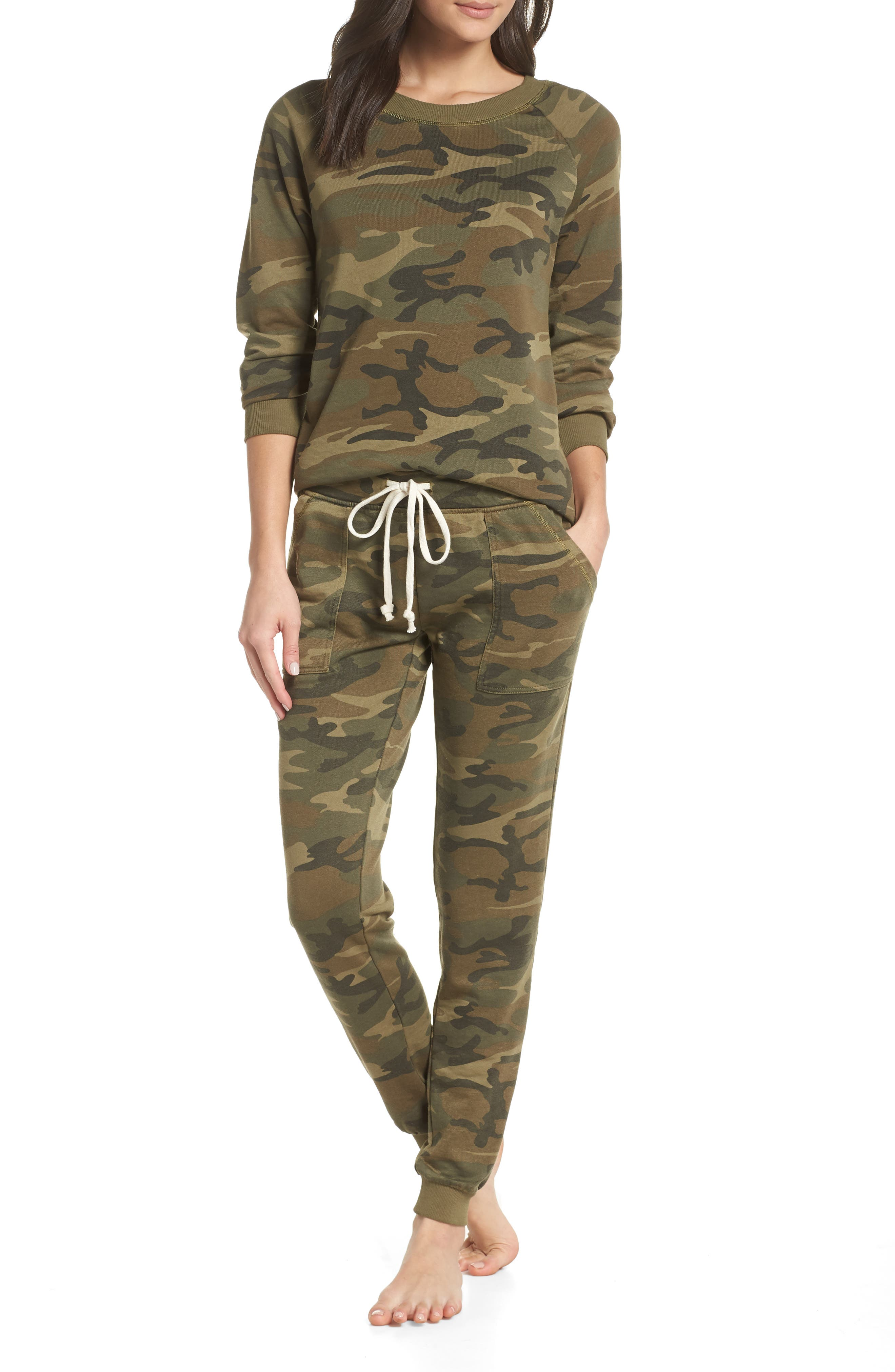 Lazy Day Camo Pajamas in Camouflage Green