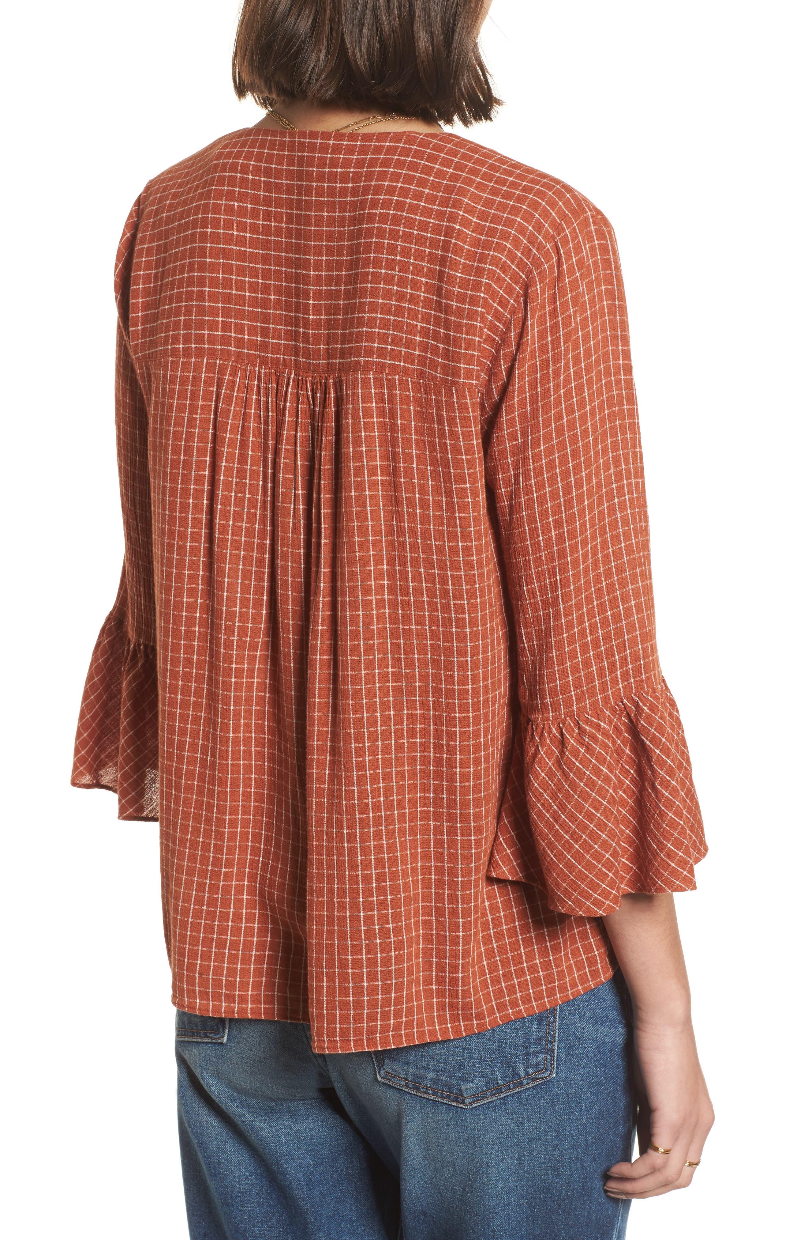 Veranda Bell Sleeve Shirt,                             Alternate thumbnail 2, color,                             800