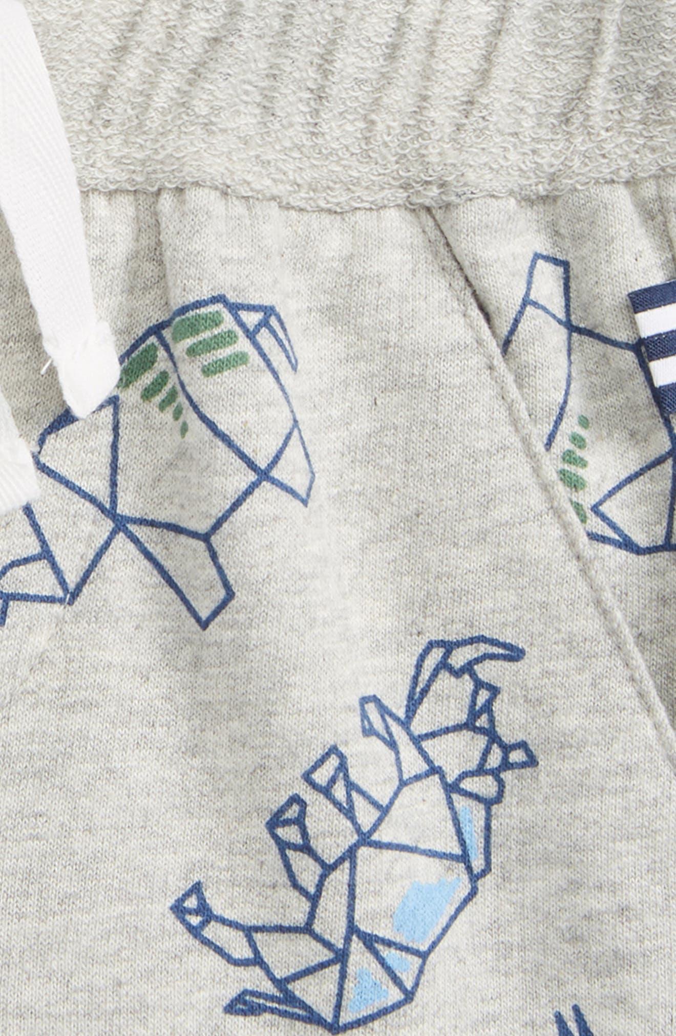 Washed Print Knit Shorts,                             Alternate thumbnail 2, color,