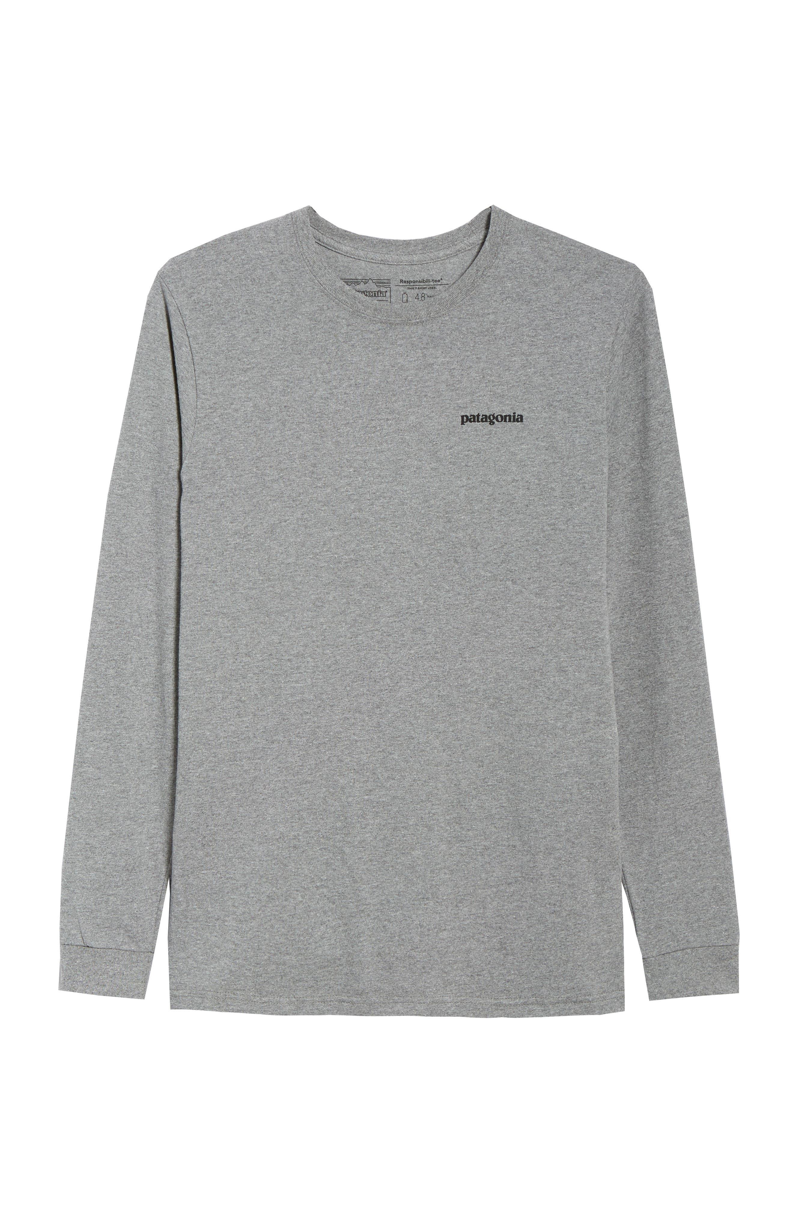 PATAGONIA,                             Fitz Roy Responsibili-Tee Long-Sleeve T-Shirt,                             Alternate thumbnail 6, color,                             020