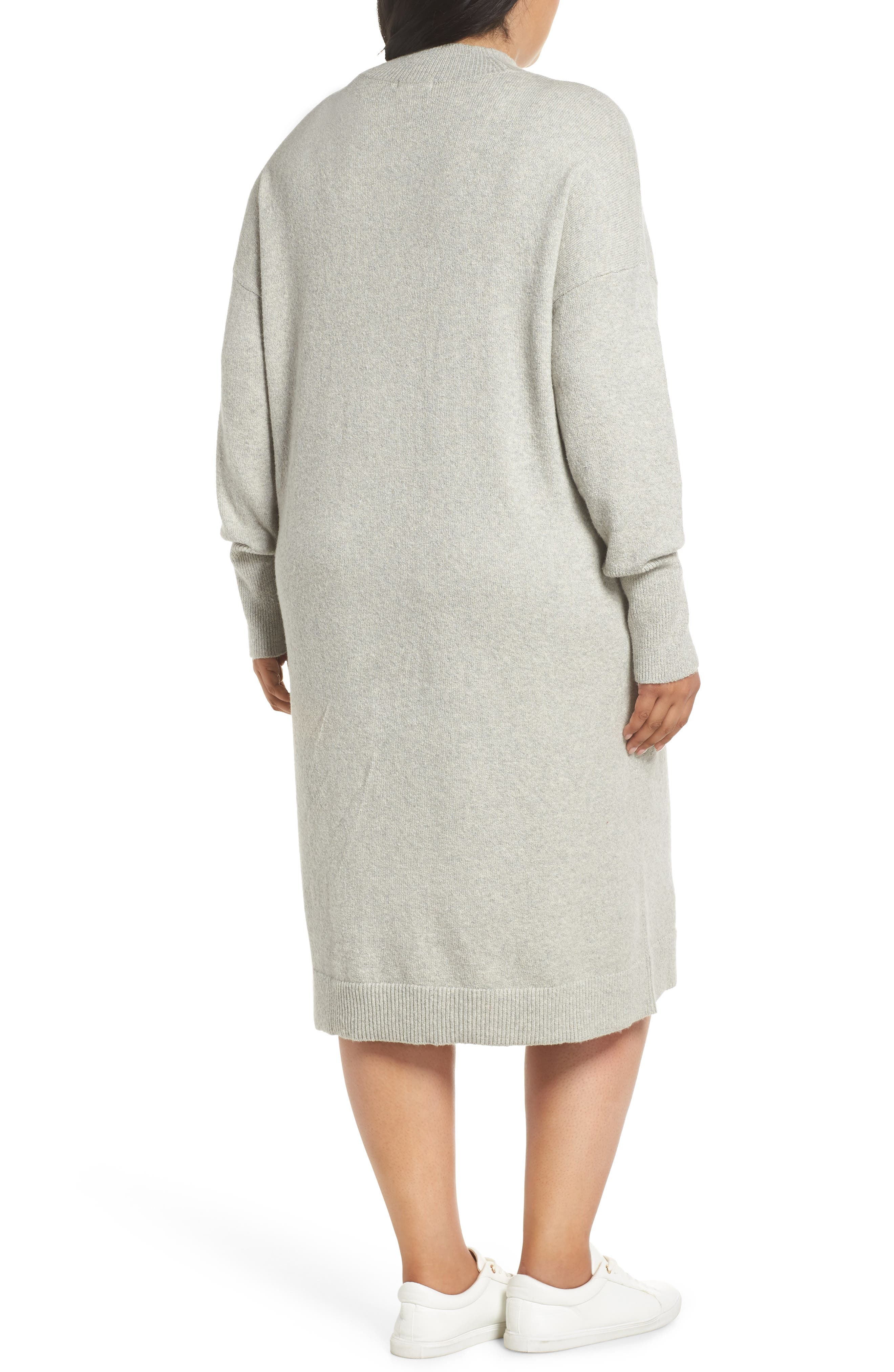 BP.,                             Mock Neck Sweater Dress,                             Alternate thumbnail 2, color,                             021