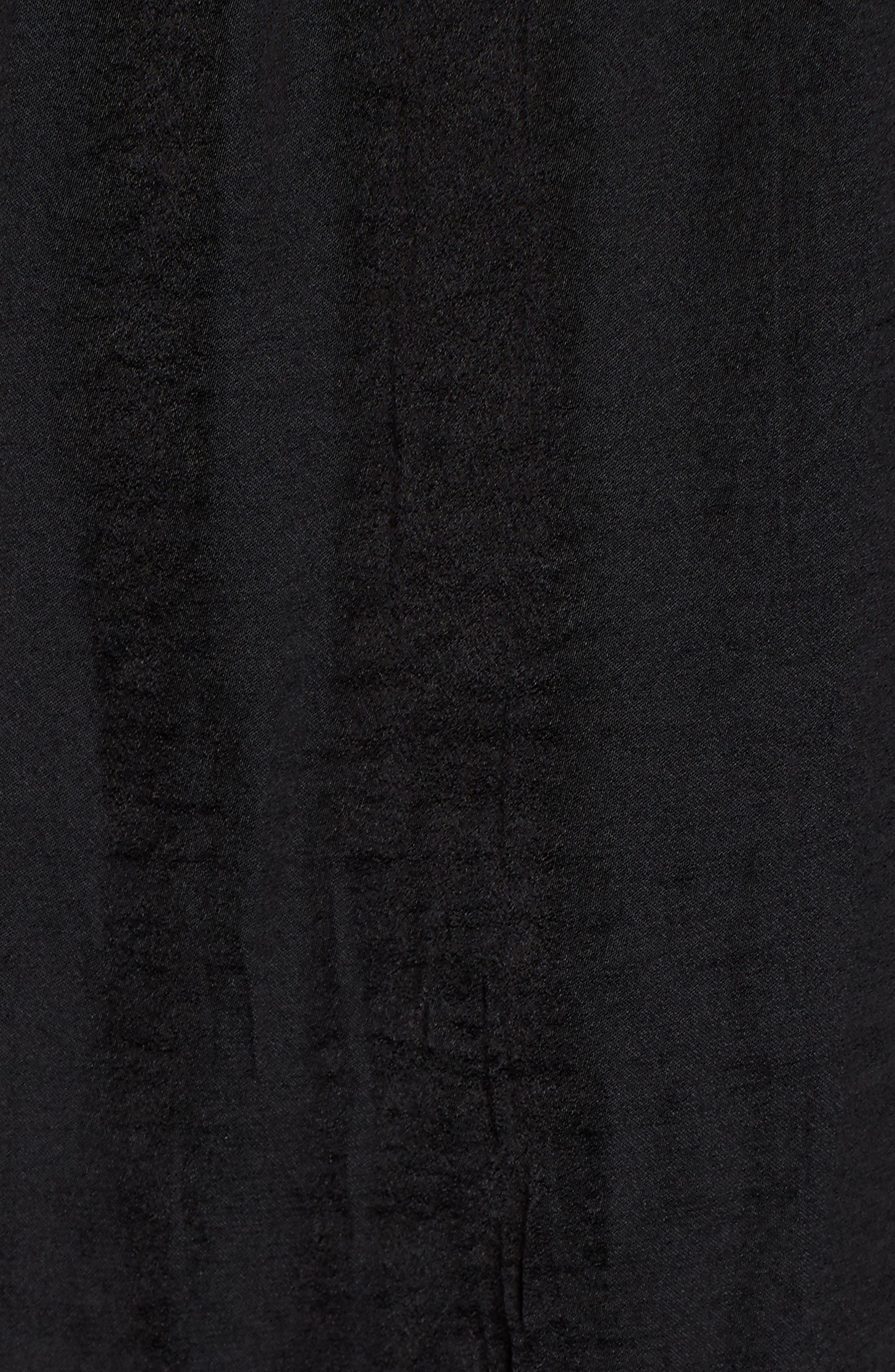 Rumple Fabric Blouse,                             Alternate thumbnail 5, color,                             RICH BLACK