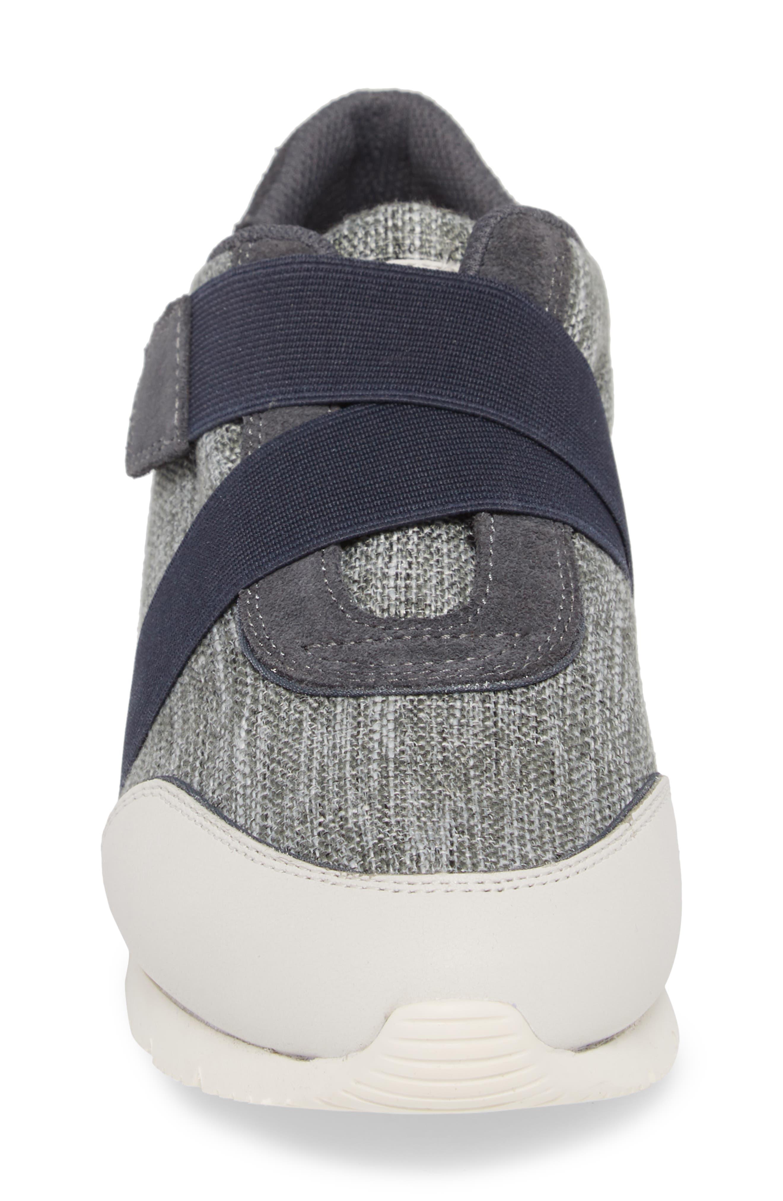 Cross Strap Sports Sneaker,                             Alternate thumbnail 4, color,                             BLUE/ WHITE