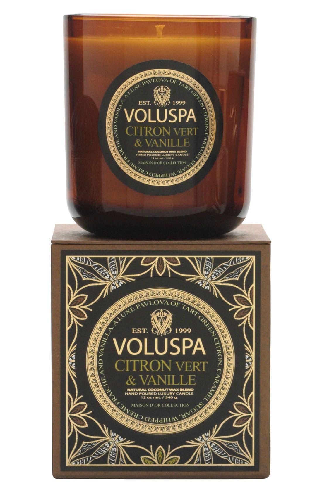 'Maison d'Or - Citron Vert & Vanille' Scented Candle,                             Main thumbnail 1, color,                             000