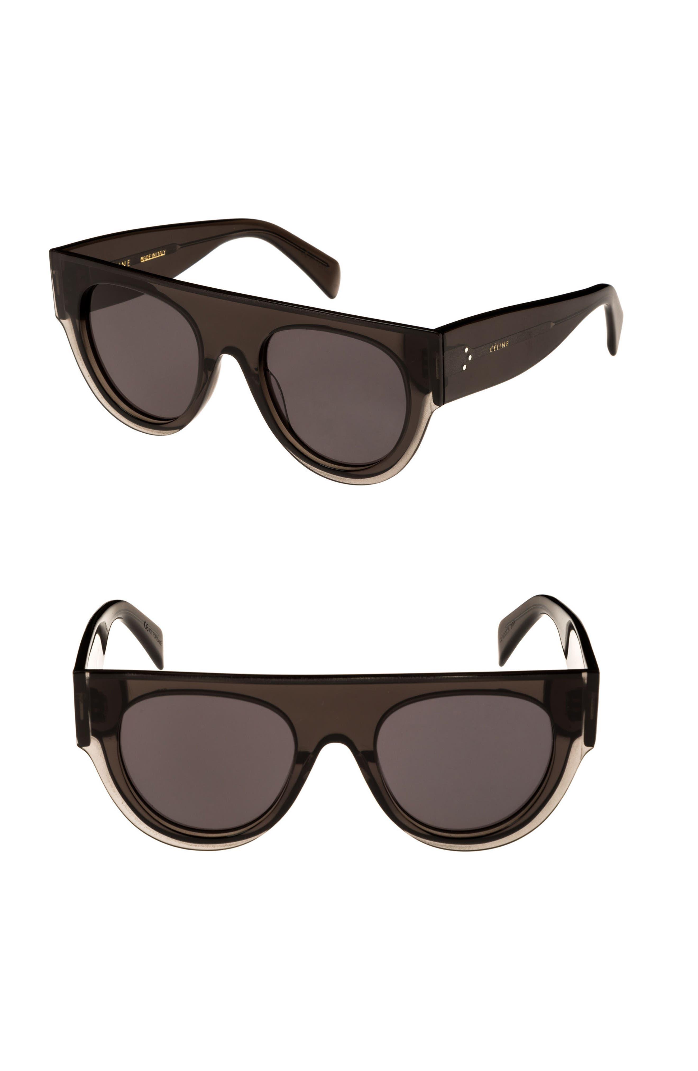 51mm Pilot Sunglasses,                         Main,                         color, DARK GREY/ SMOKE
