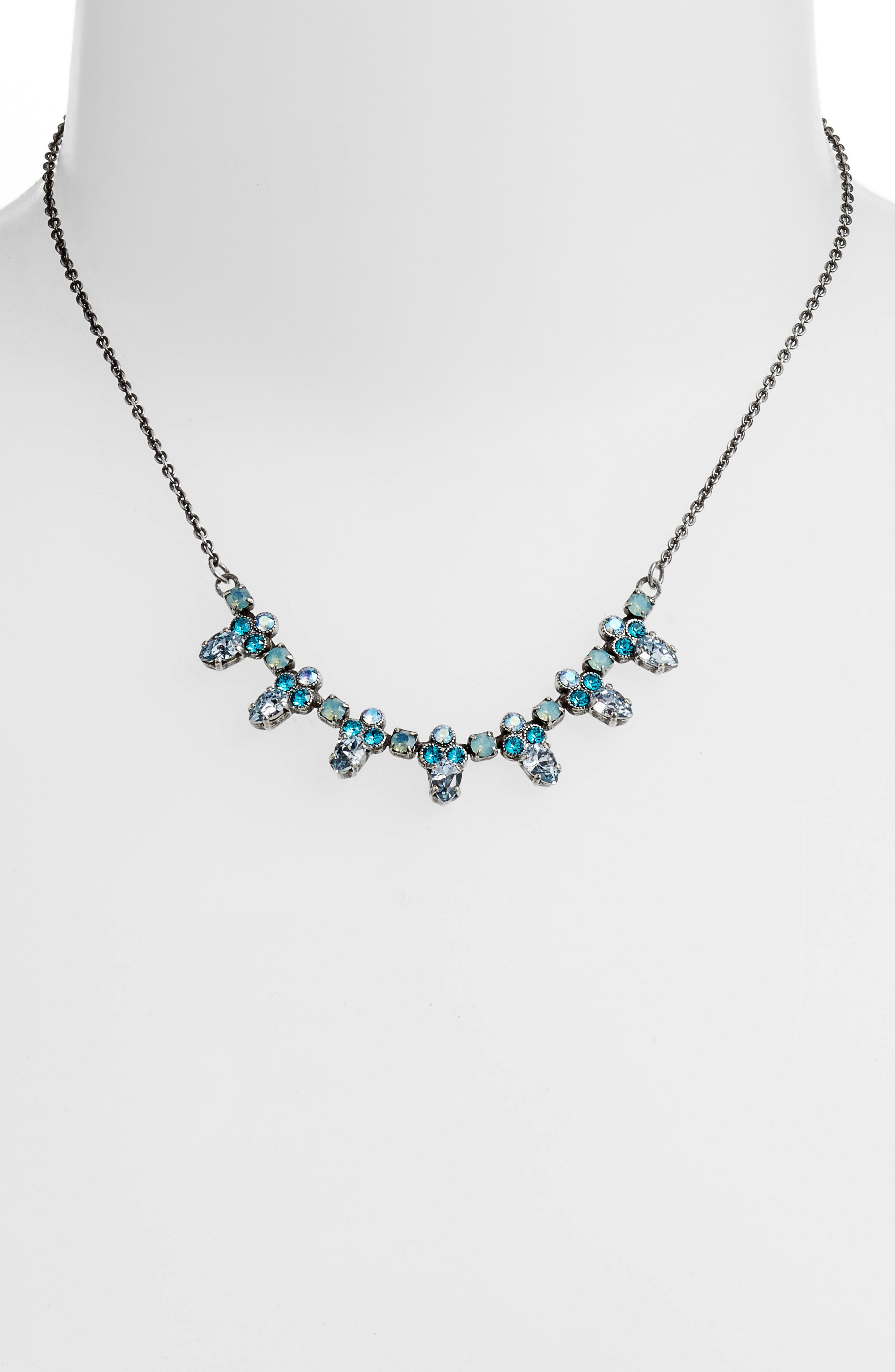 Twinkling Thistle Crystal Necklace,                             Alternate thumbnail 5, color,