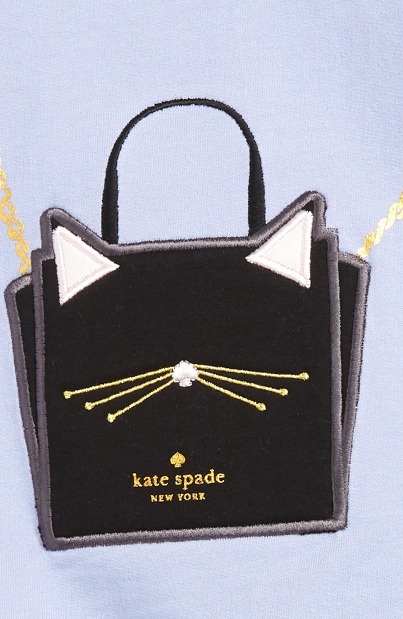 cat handbag tunic & leggings set,                             Alternate thumbnail 2, color,                             THISTLE