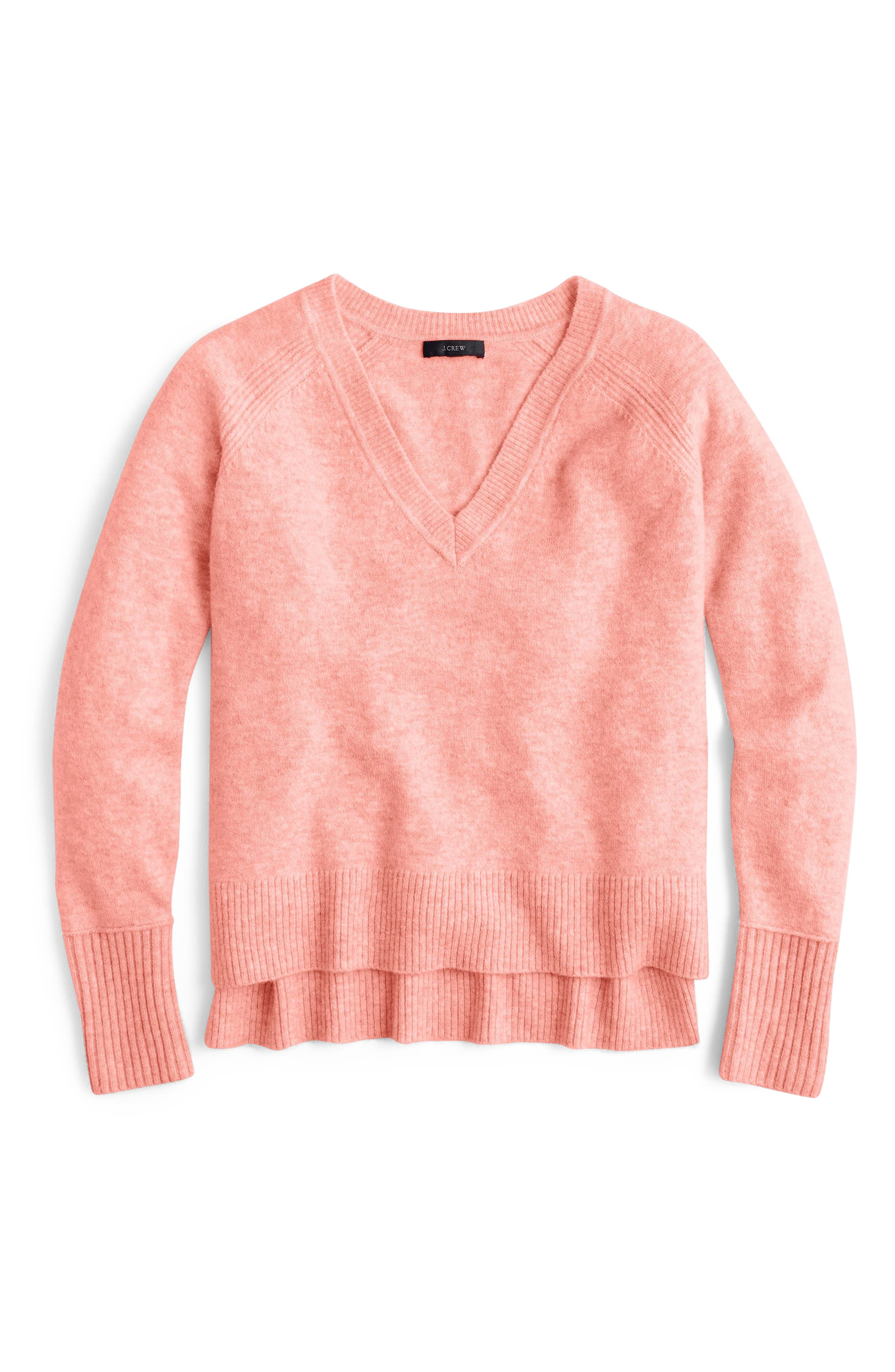 Supersoft Yarn V-Neck Sweater,                             Alternate thumbnail 19, color,