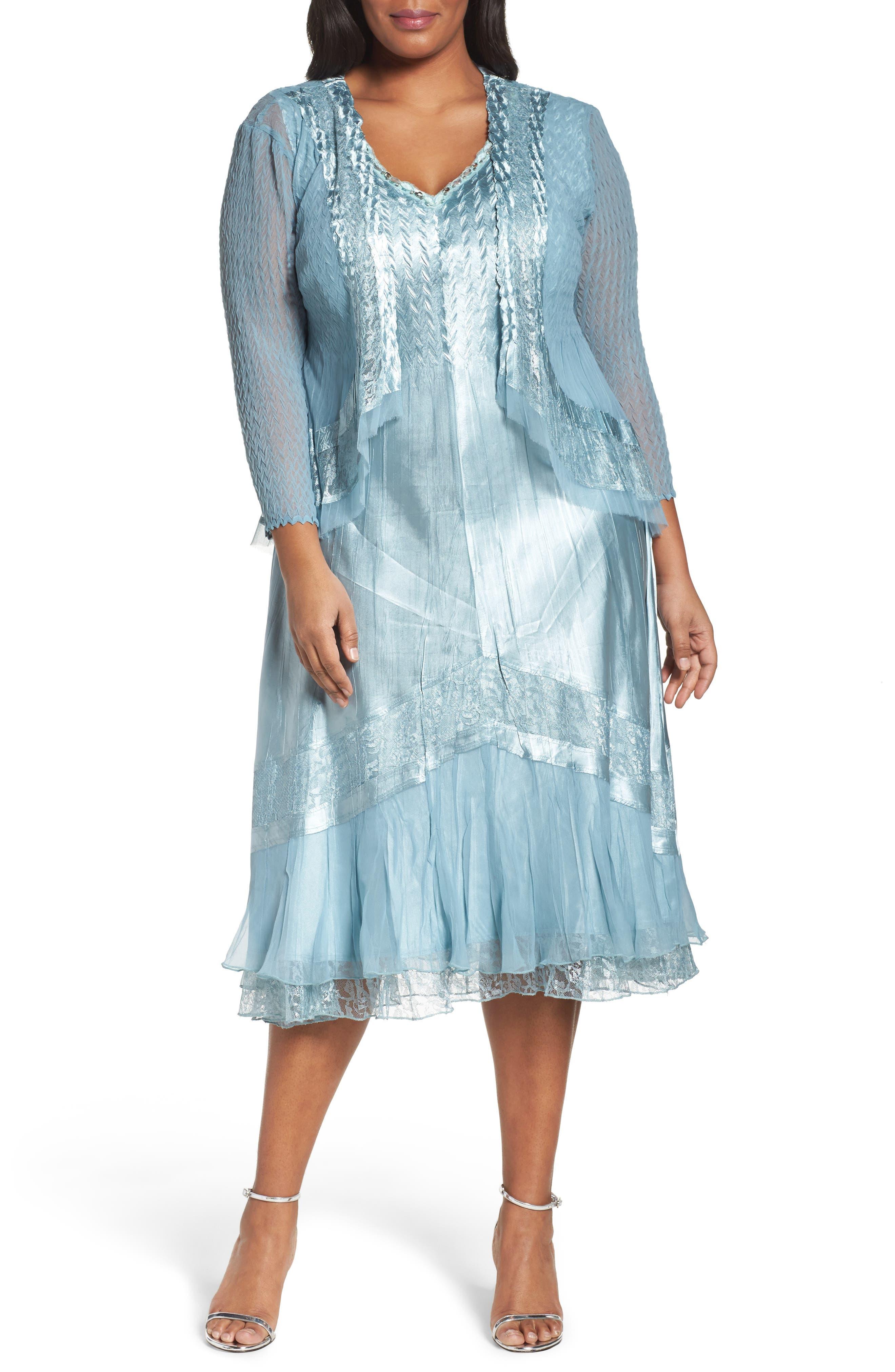Lace Trim Jacket Dress,                             Main thumbnail 1, color,                             439