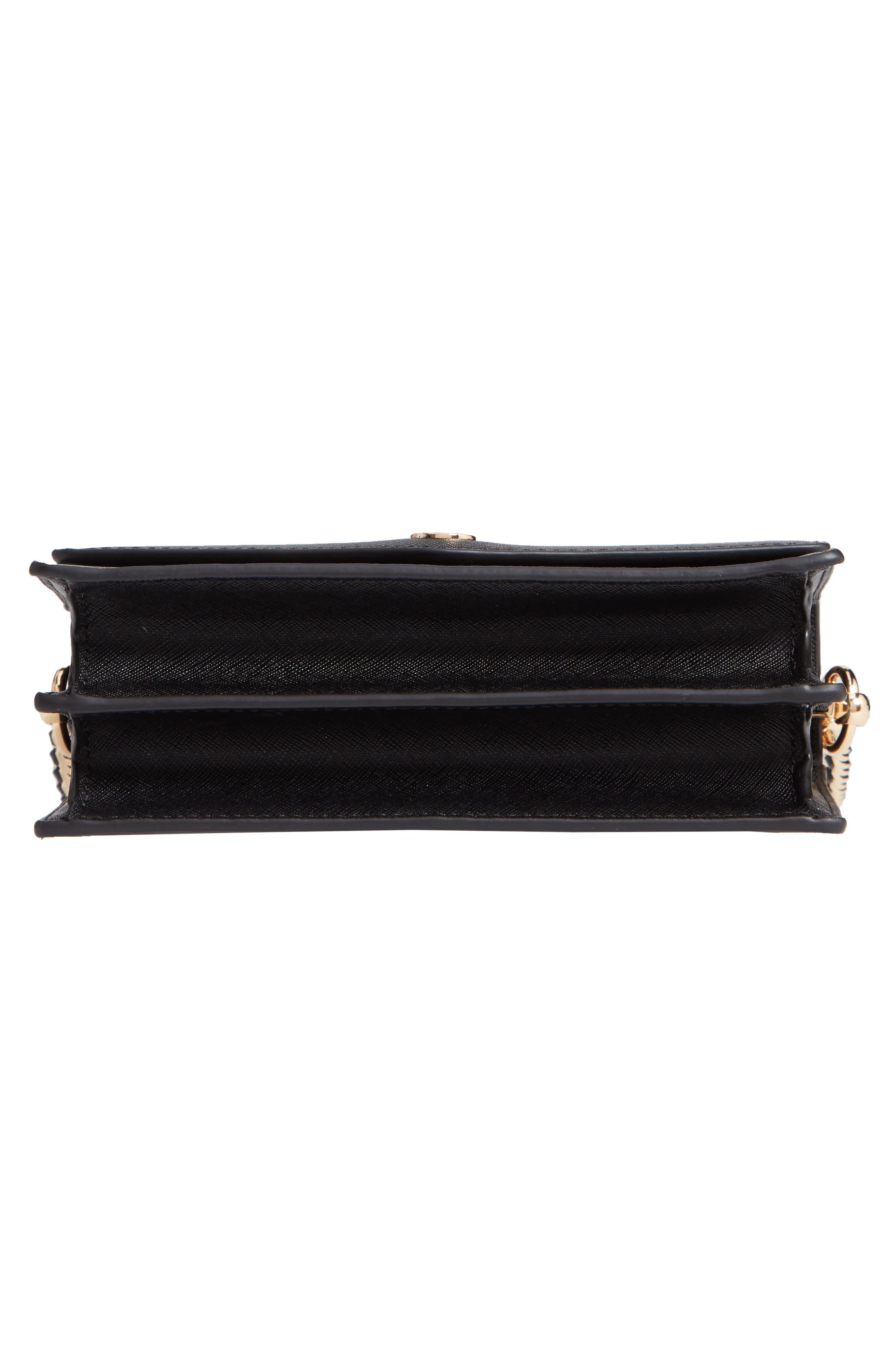 Mini Robinson Convertible Leather Shoulder Bag,                             Alternate thumbnail 6, color,                             BLACK