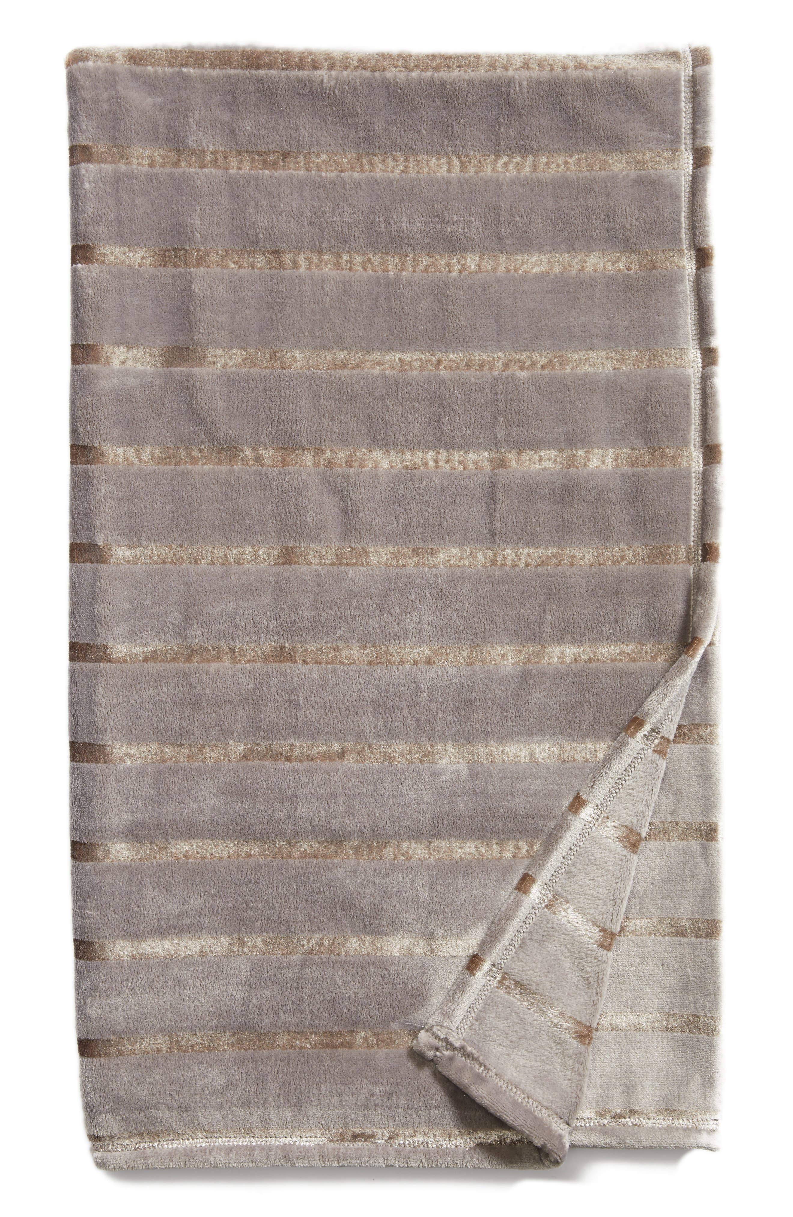 Shimmer Stripe Throw,                         Main,                         color,