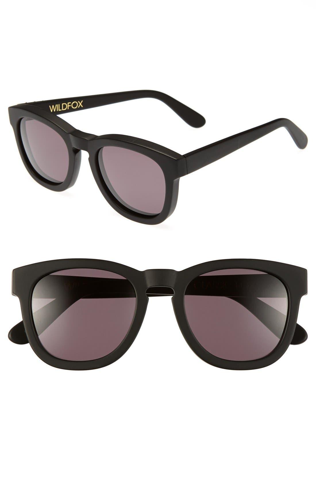 'Classic Fox' 50mm Retro Sunglasses,                             Main thumbnail 10, color,