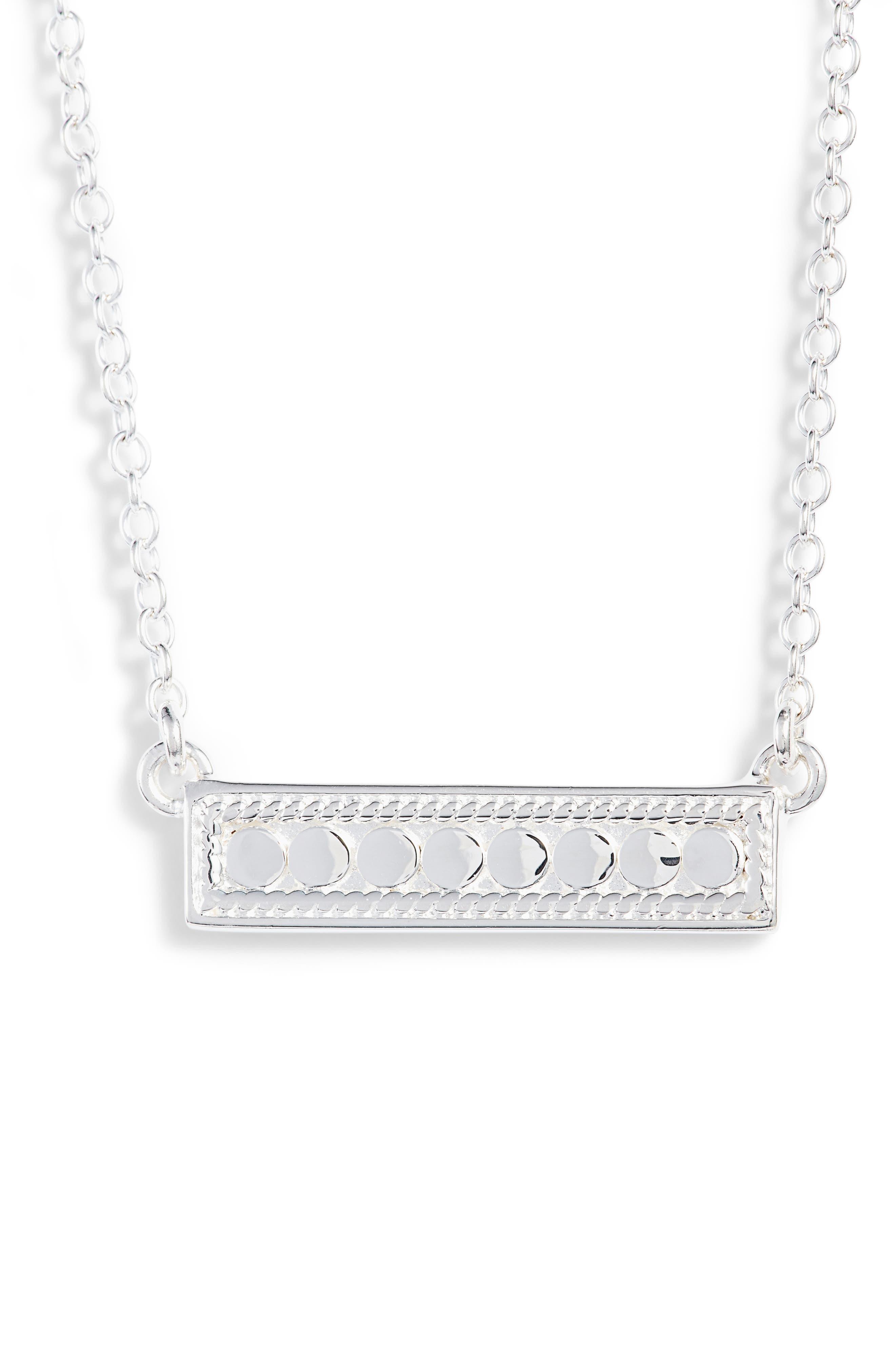 'Gili' Bar Pendant Necklace,                             Alternate thumbnail 5, color,                             GOLD/ SILVER