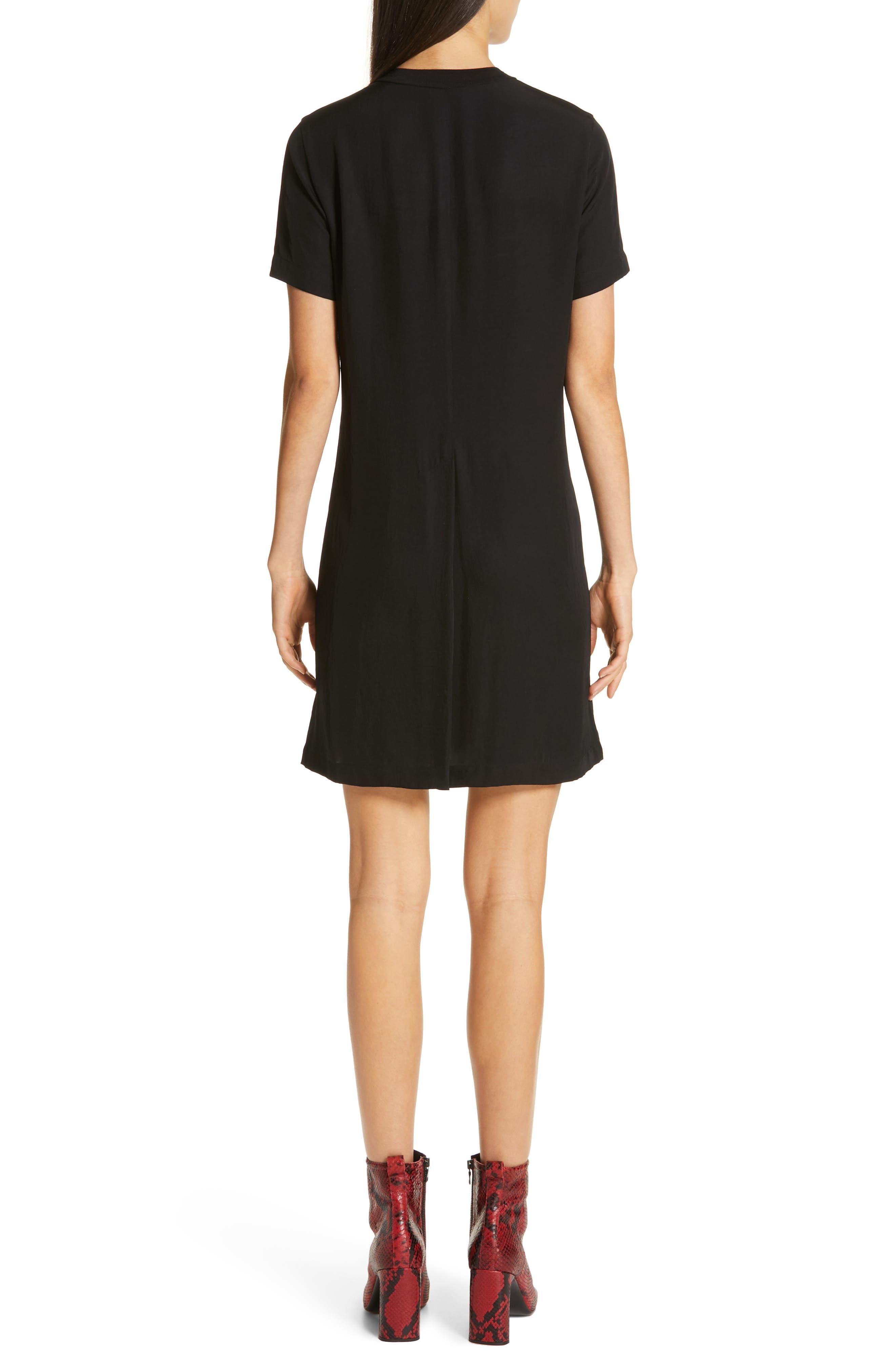 RAG & BONE,                             Aiden T-Shirt Dress,                             Alternate thumbnail 2, color,                             BLACK