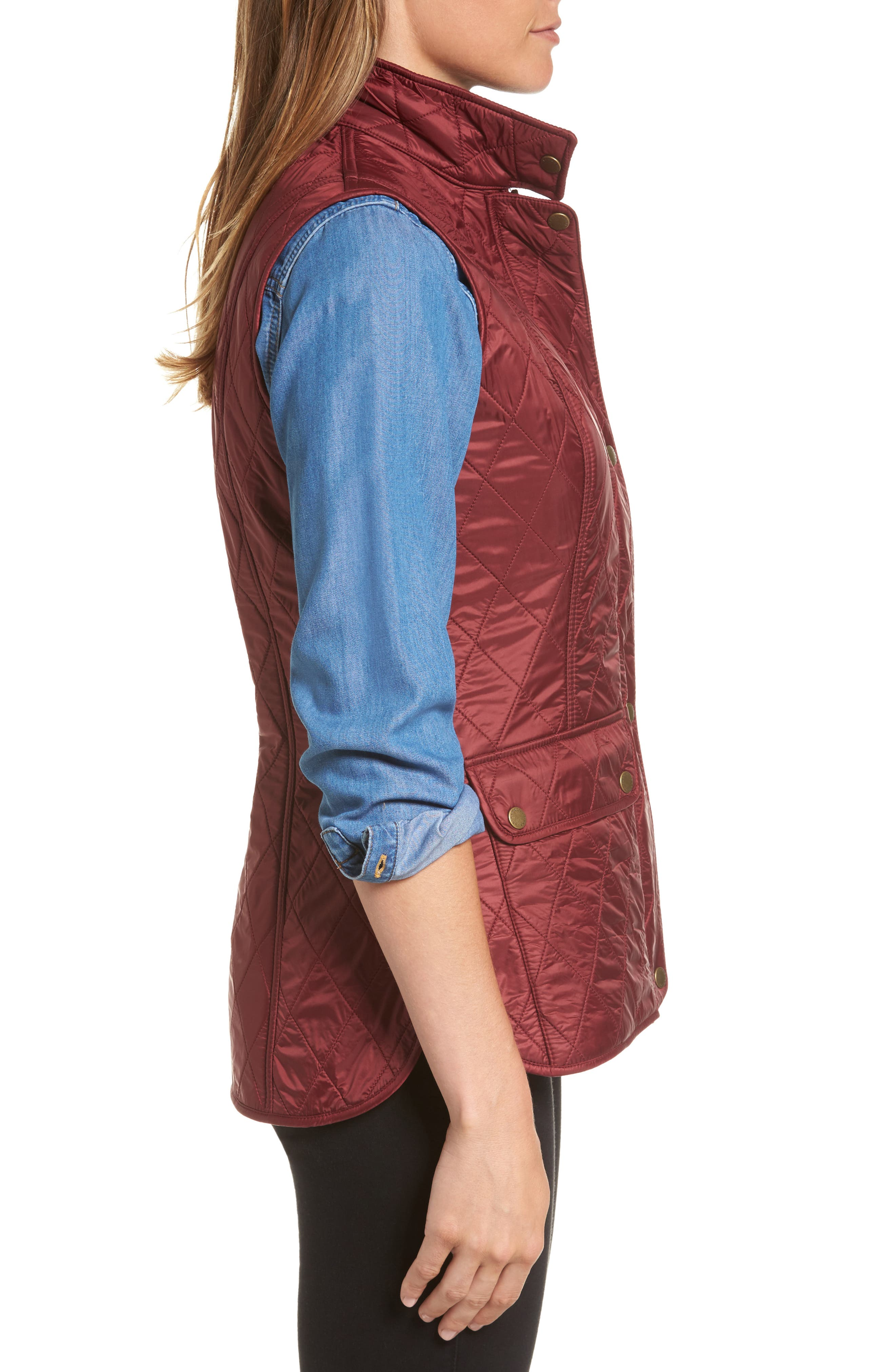 Wray Water Resistant Quilted Gilet,                             Alternate thumbnail 11, color,