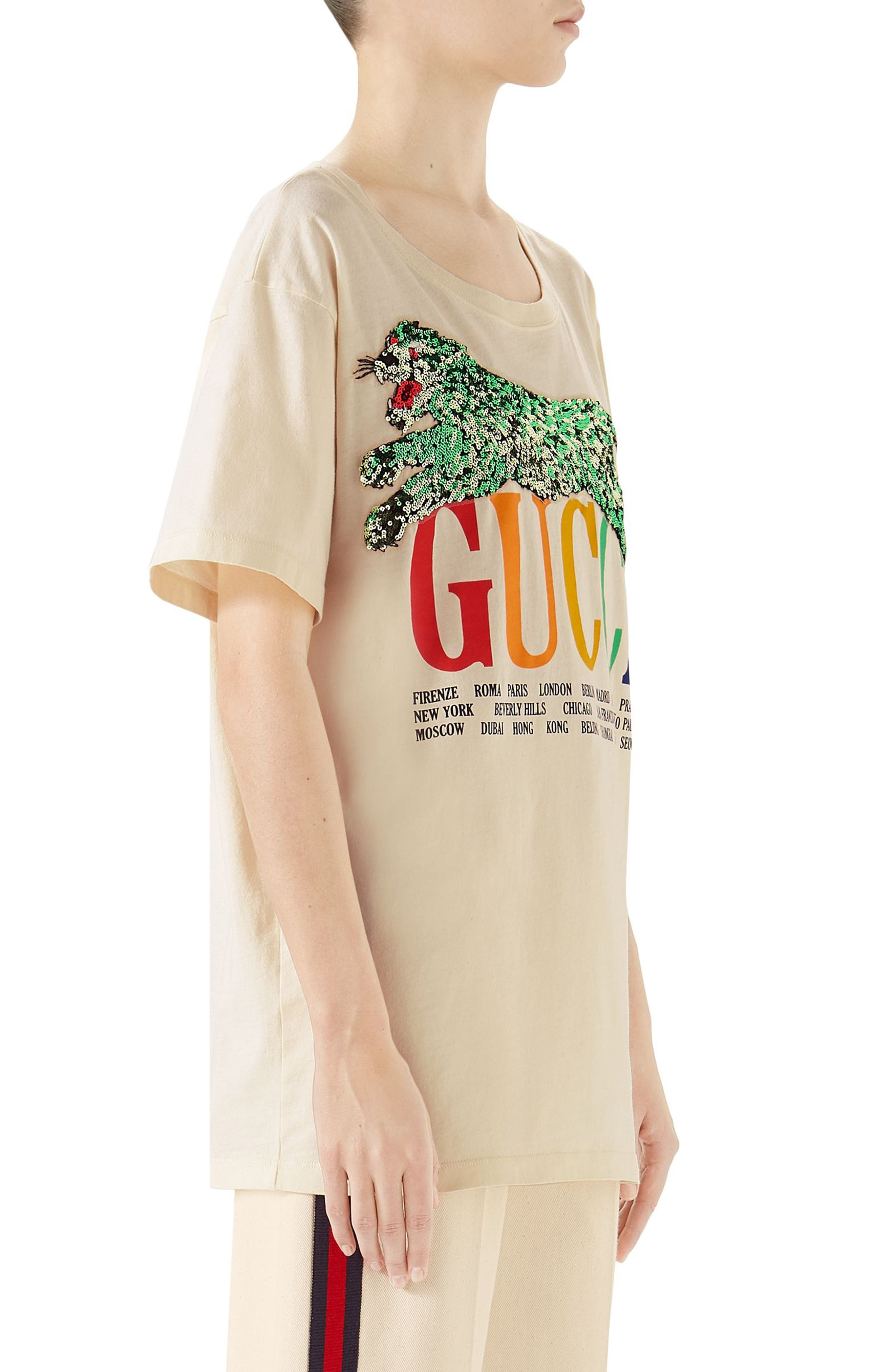 Embellished Graphic Tee,                             Alternate thumbnail 3, color,                             SUNKISSED/ MULTICOLOR