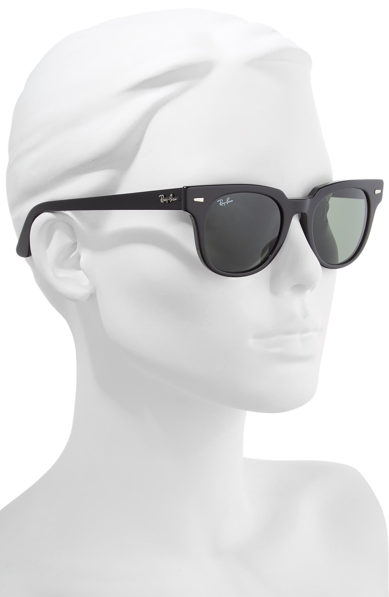 Wayfarer 50mm Square Sunglasses,                             Alternate thumbnail 2, color,                             BLACK