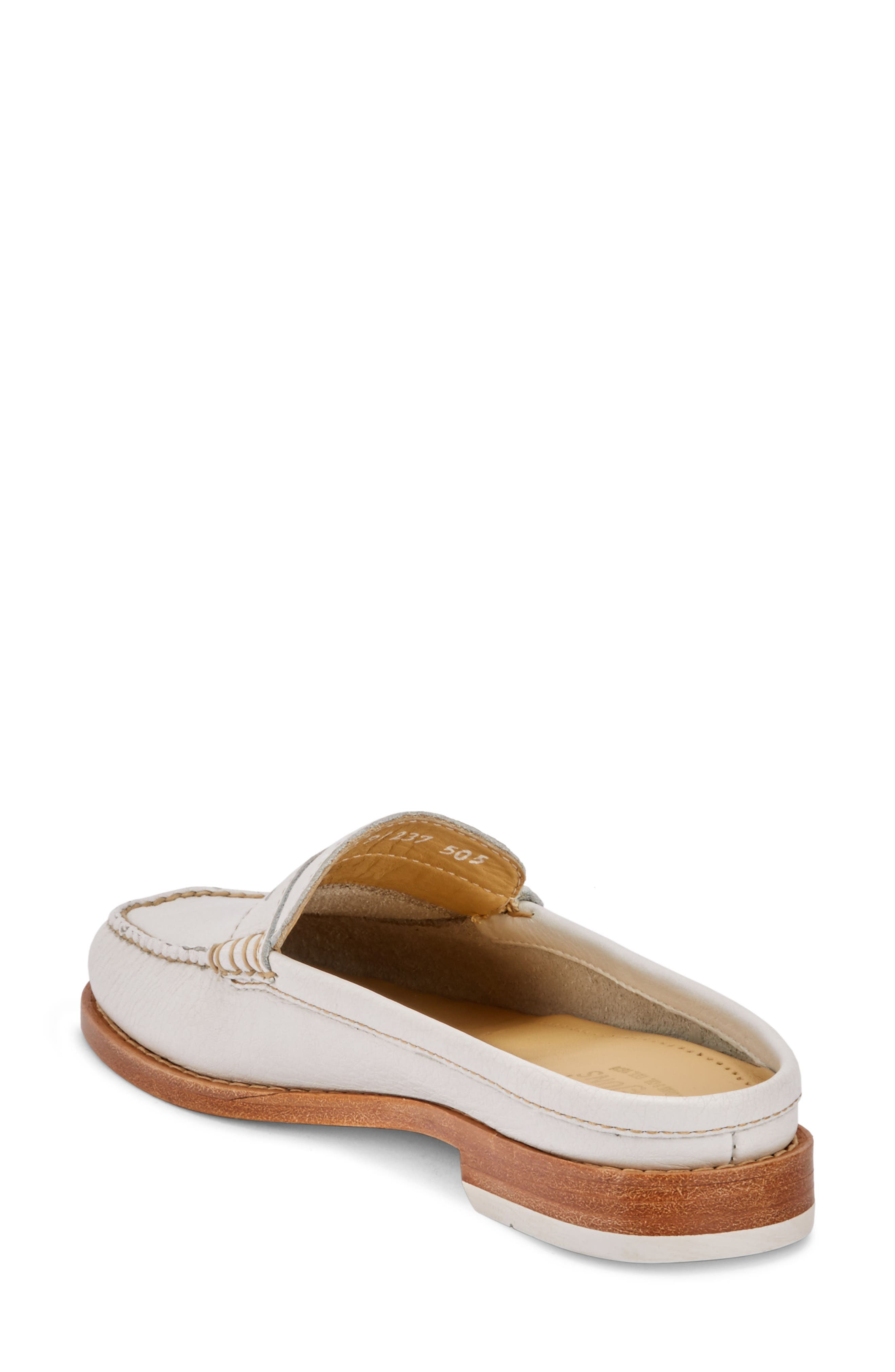 Wynn Loafer Mule,                             Alternate thumbnail 2, color,                             WHITE/ WHITE LEATHER