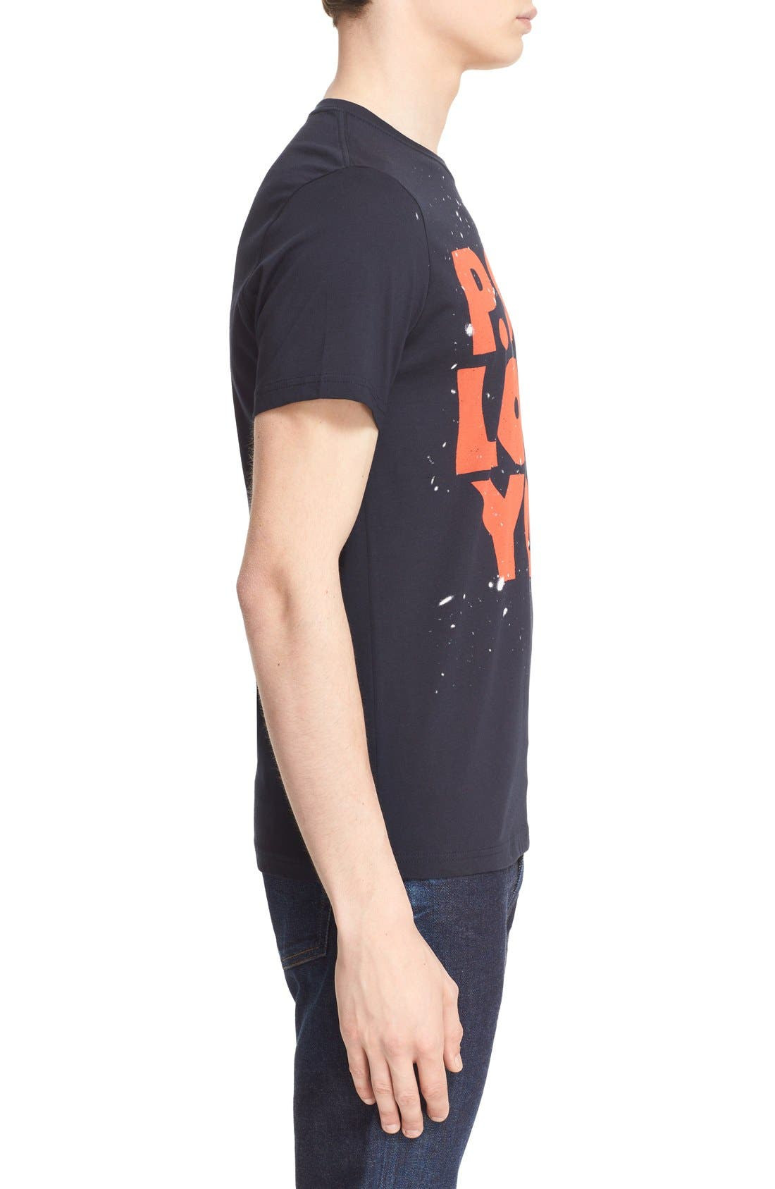 Paul Smith 'P.S. I Love You' Graphic Cotton T-Shirt,                             Alternate thumbnail 5, color,                             414
