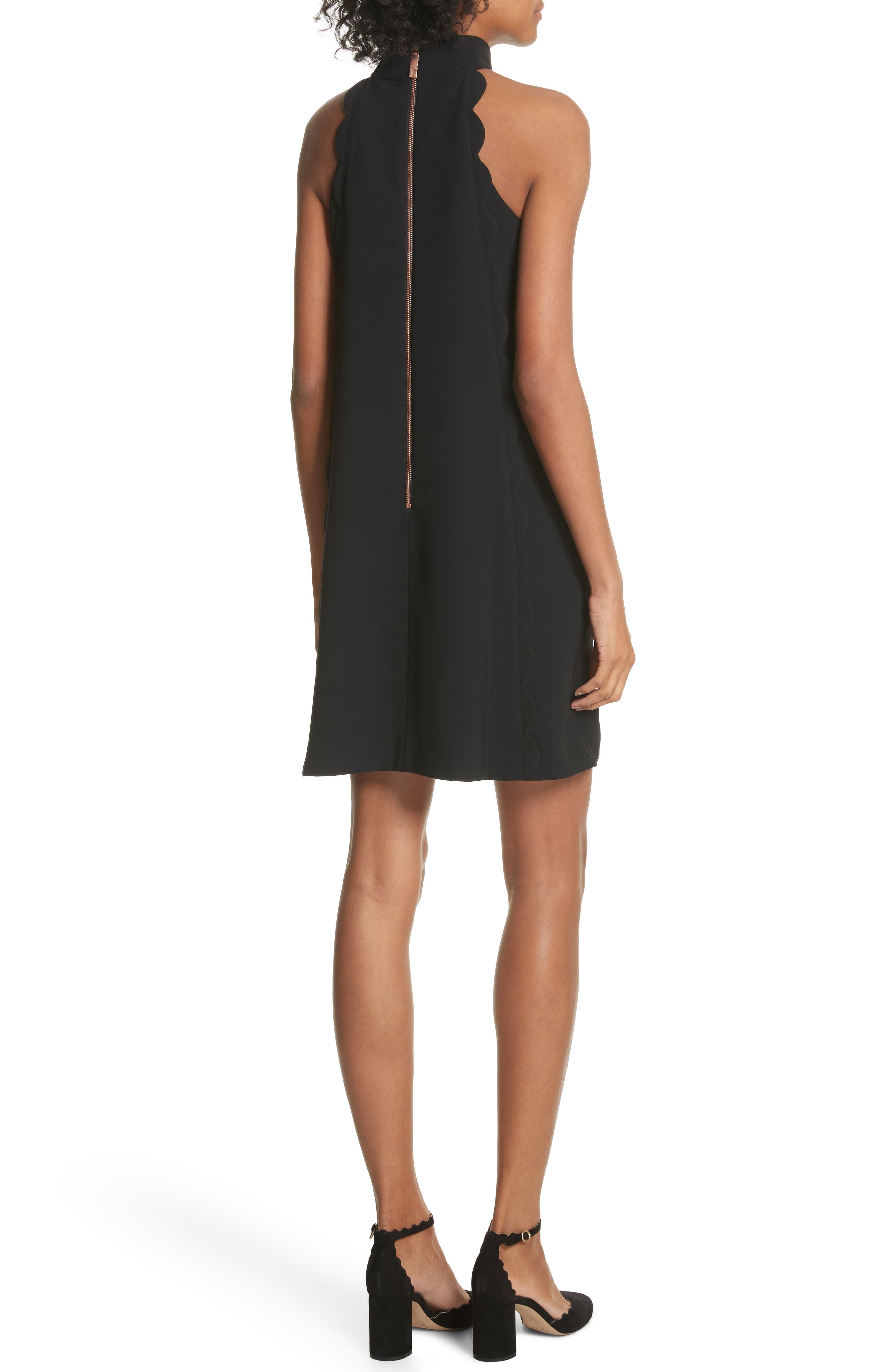 Torrii High Neck Tunic Dress,                             Alternate thumbnail 2, color,                             BLACK