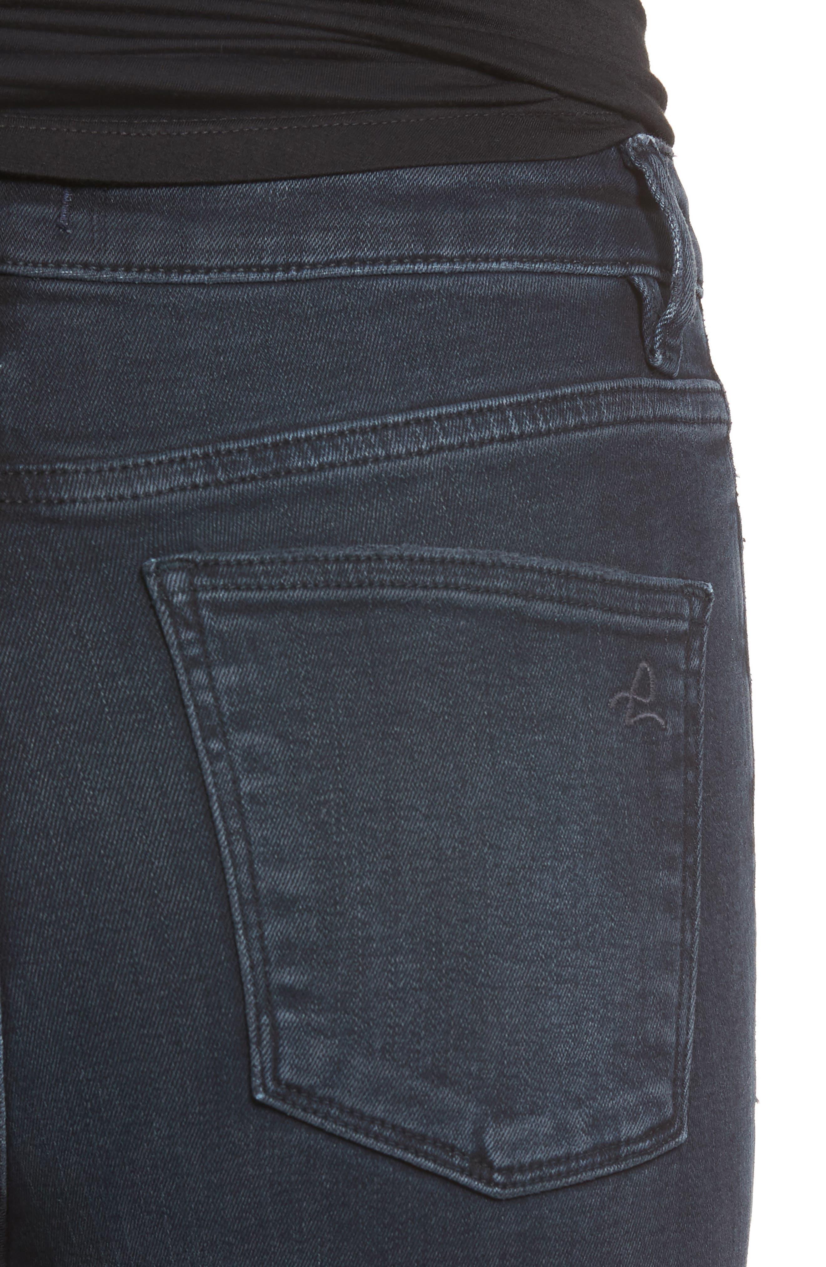 Chrissy Ultra High Waist Ankle Skinny Jeans,                             Alternate thumbnail 4, color,                             PORTER