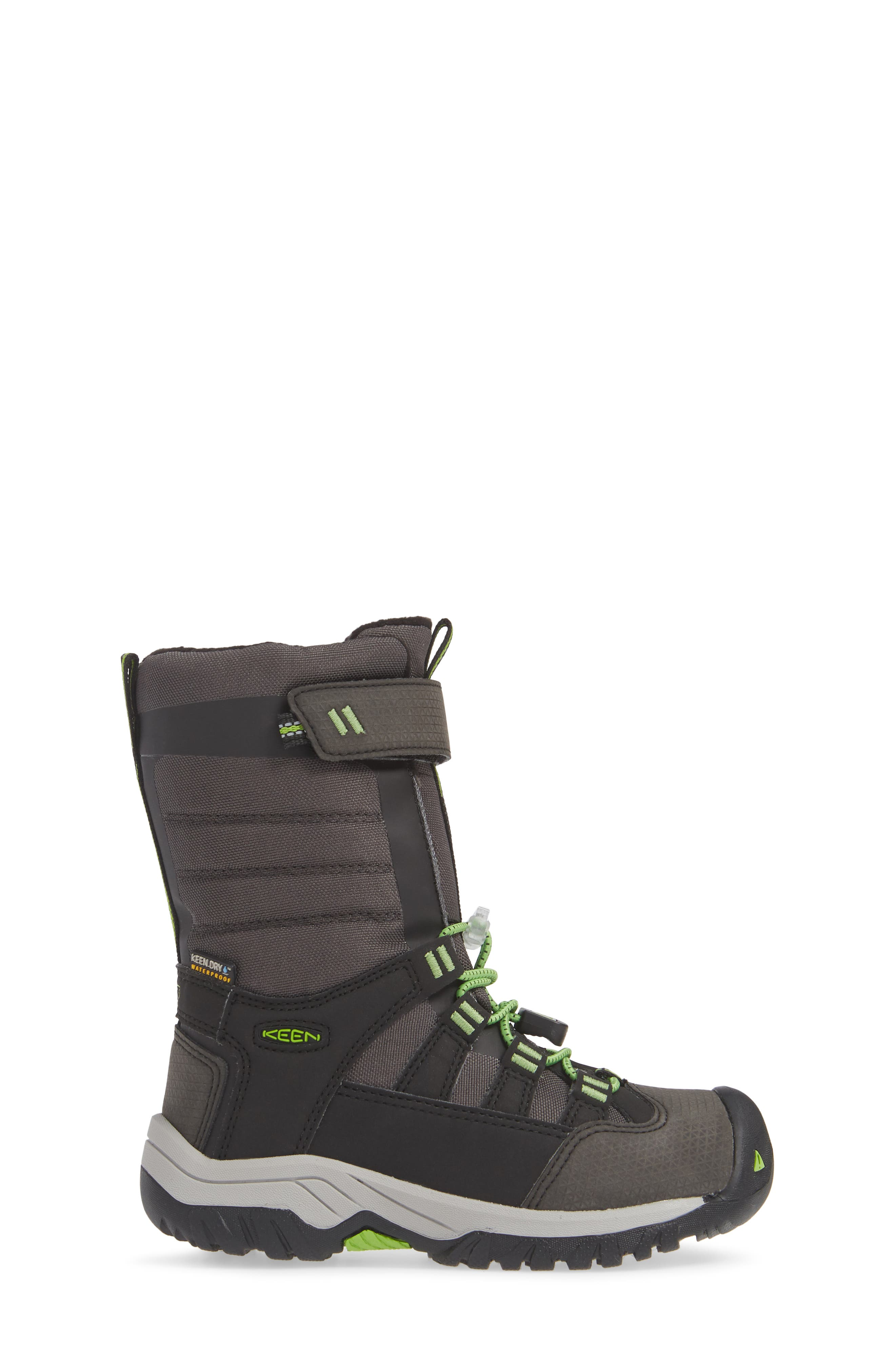 Winterport Neo Waterproof Insulated Boot,                             Alternate thumbnail 3, color,                             BLACK/ GREENERY