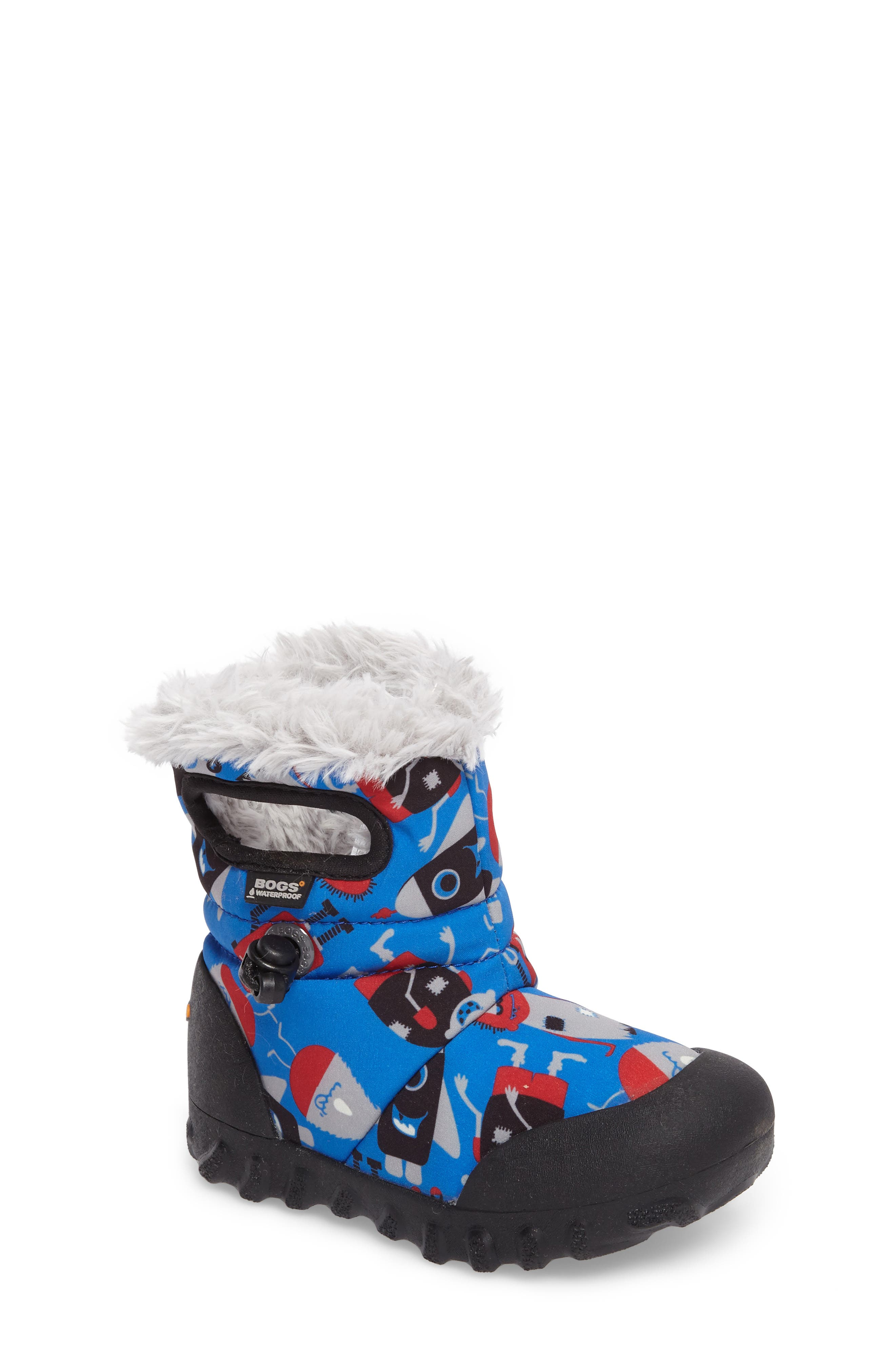 B-MOC Monsters Waterproof Insulated Faux Fur Winter Boot,                         Main,                         color, 409