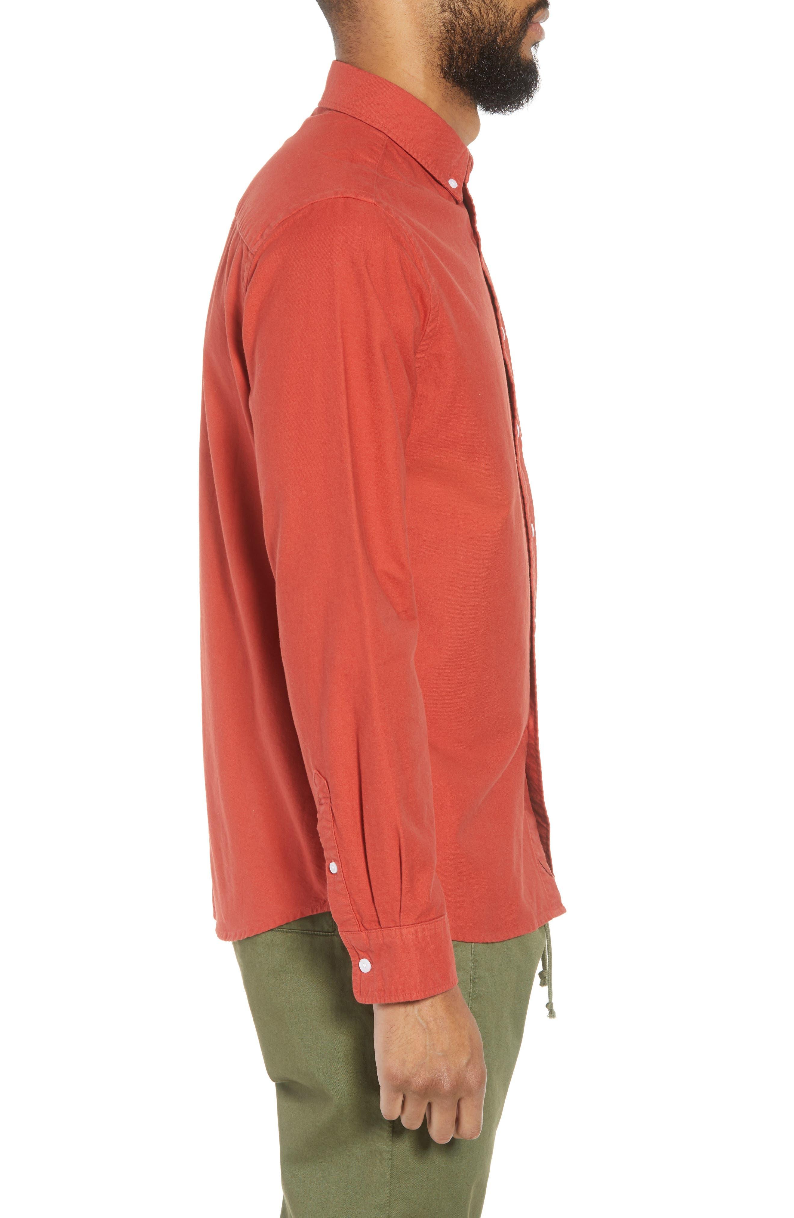 Crosby Oxford Woven Shirt,                             Alternate thumbnail 3, color,                             600