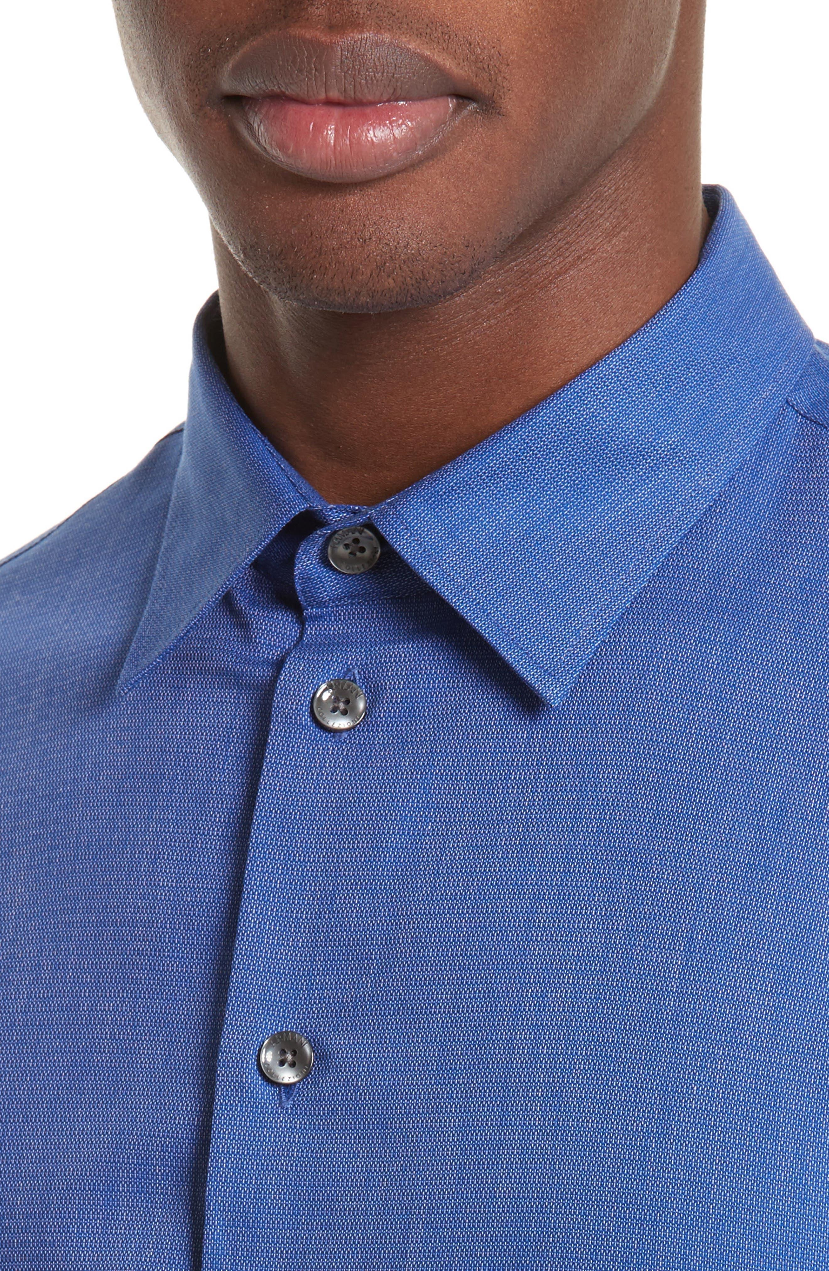 Regular Fit Woven Sport Shirt,                             Alternate thumbnail 4, color,                             415