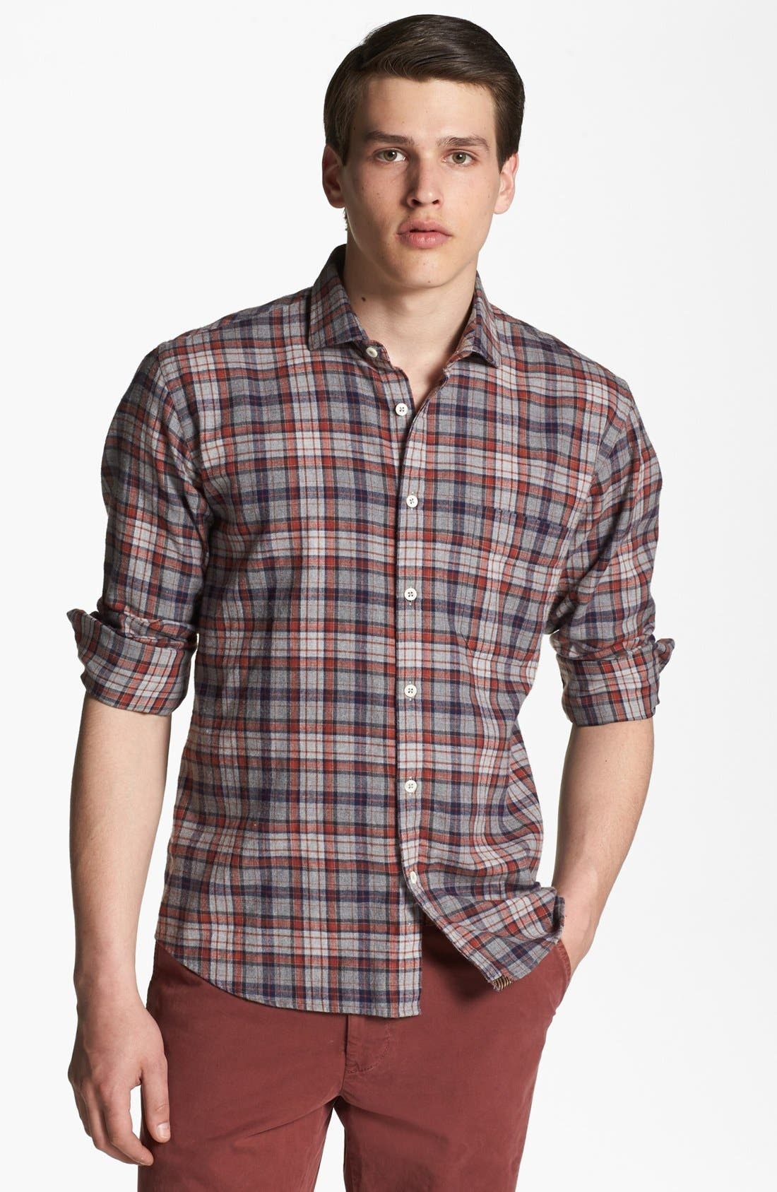 BILLY REID,                             'John T' Plaid Shirt,                             Main thumbnail 1, color,                             413