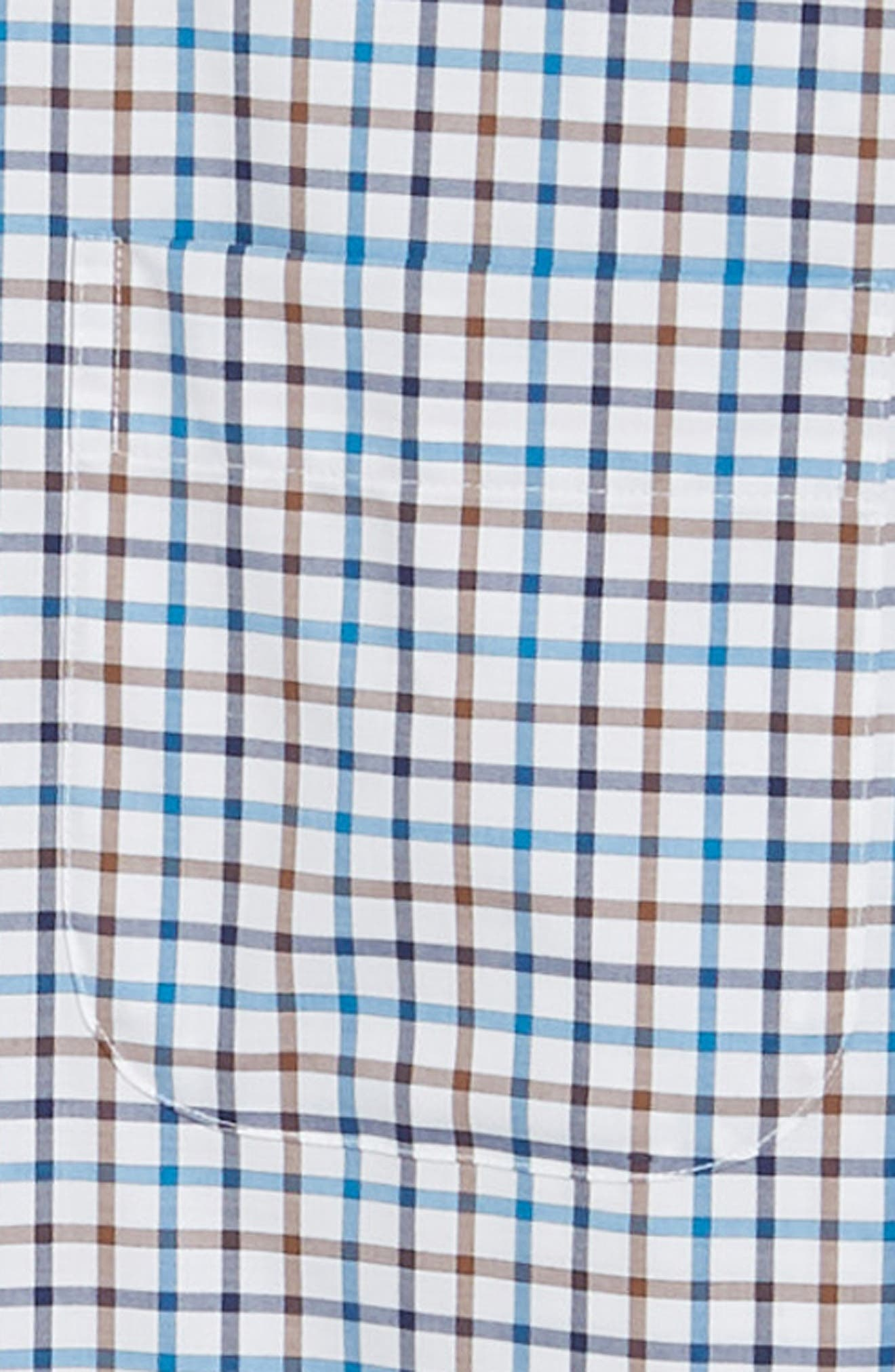 Crown Ease Eyre Regular Fit Tattersall Check Sport Shirt,                             Alternate thumbnail 6, color,                             BLUE