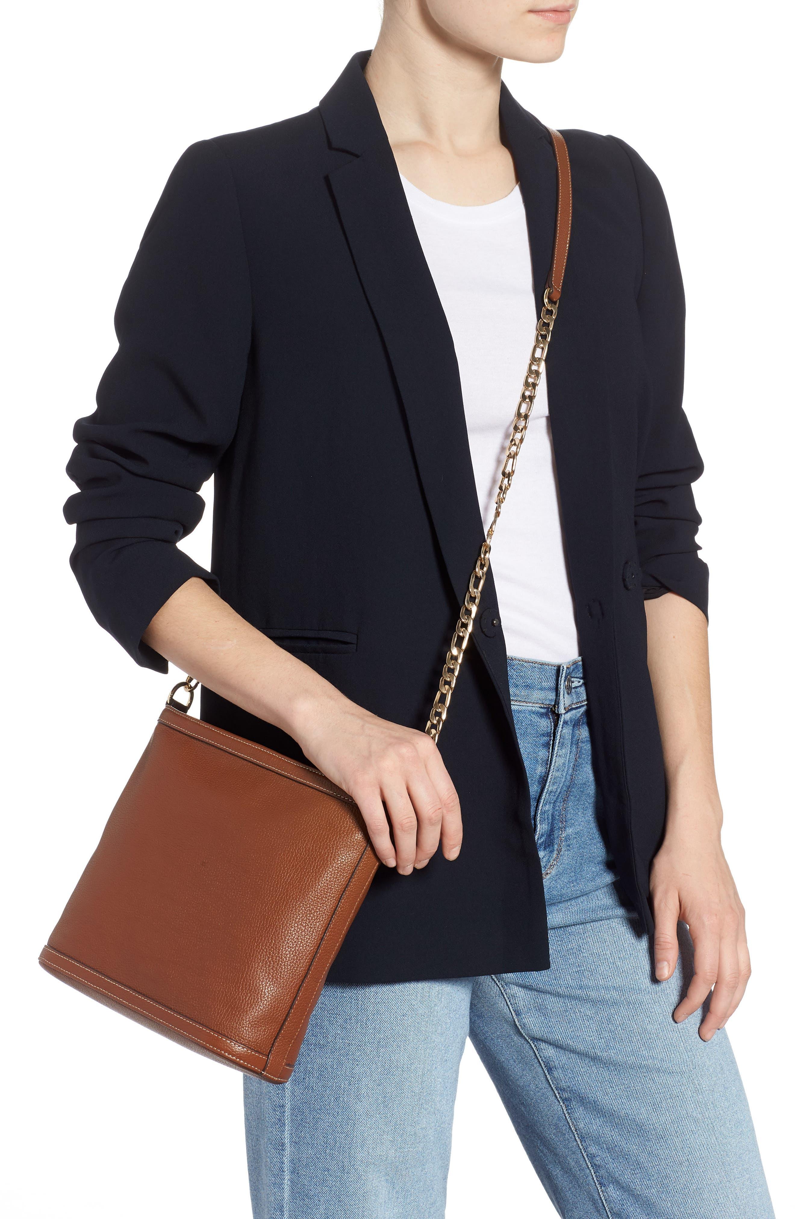 NORDSTROM,                             Maribel Leather Crossbody Bag,                             Alternate thumbnail 2, color,                             BROWN AZTEC