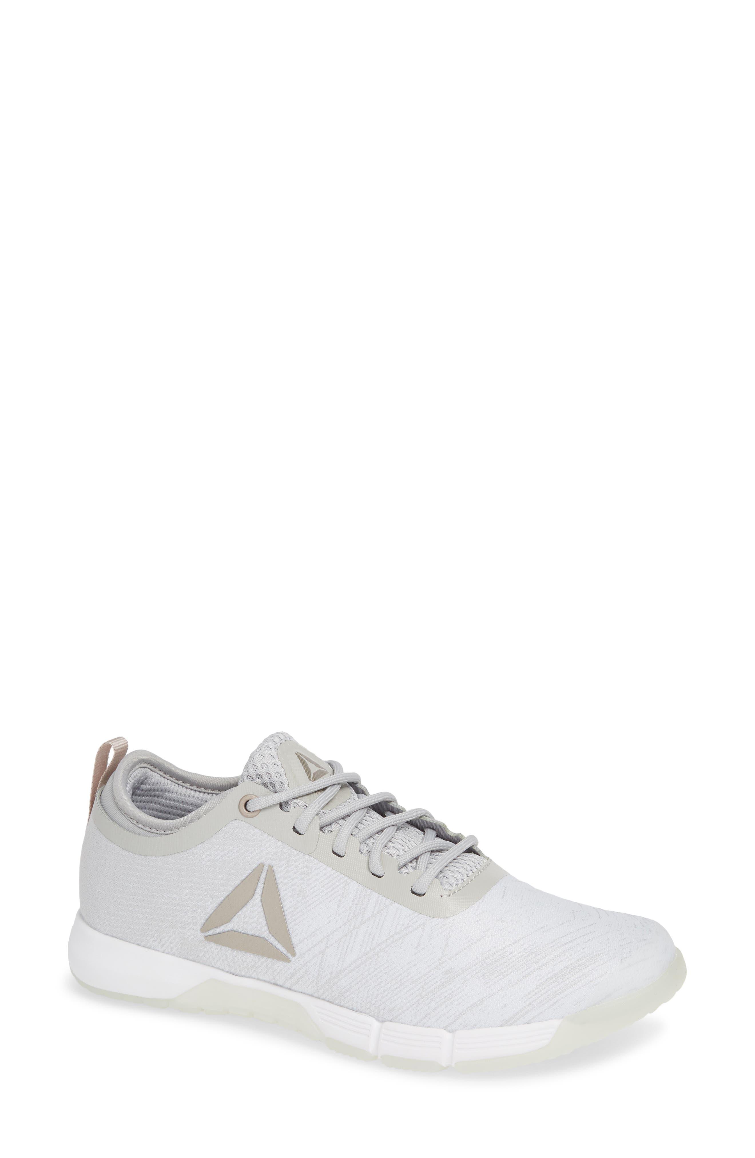 Speed Her TR Training Shoe,                             Main thumbnail 1, color,                             WHITE/ SPIRIT WHITE/ MOONDUST