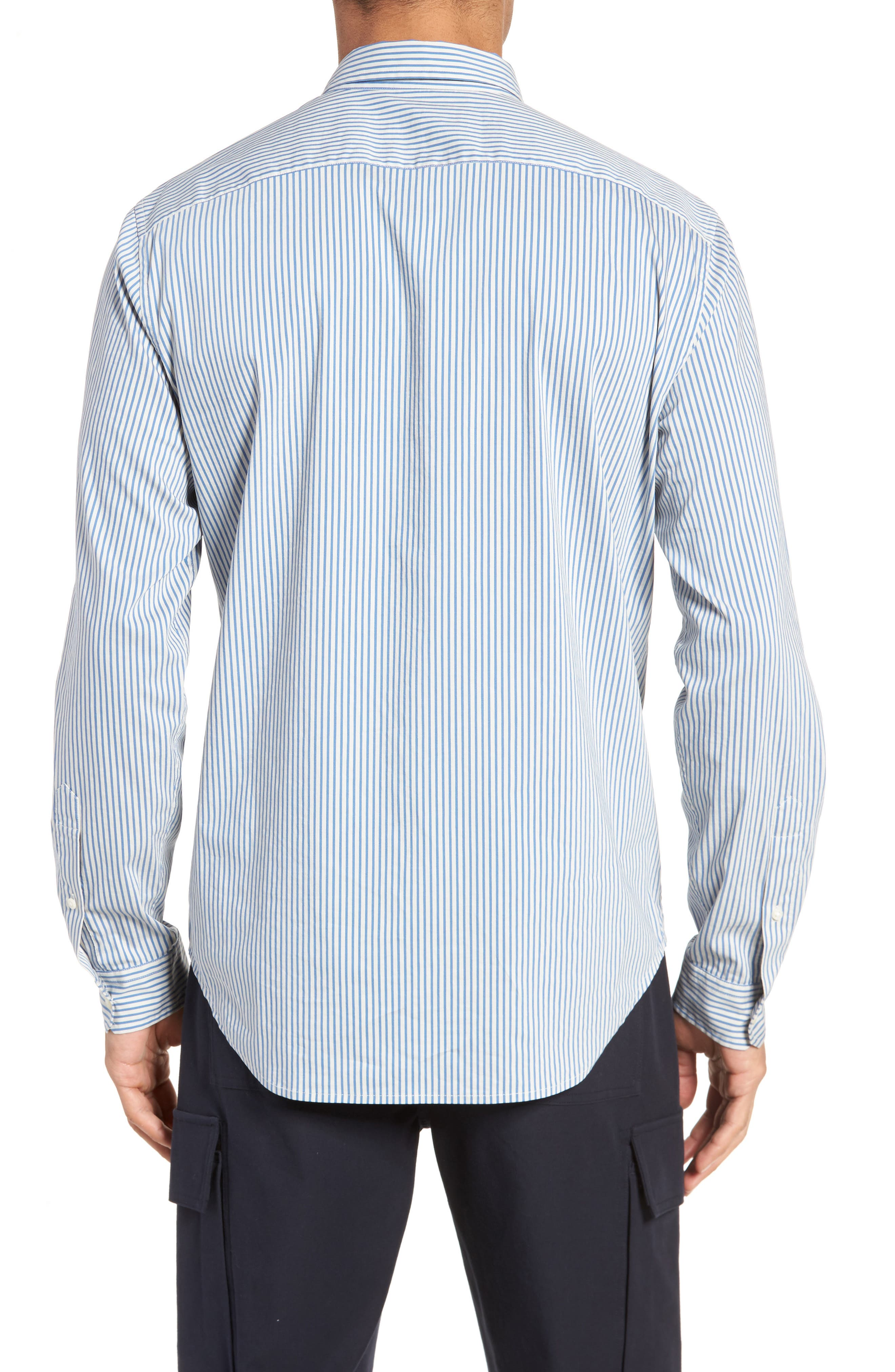 Regular Fit Stripe Sport Shirt,                             Alternate thumbnail 2, color,                             100