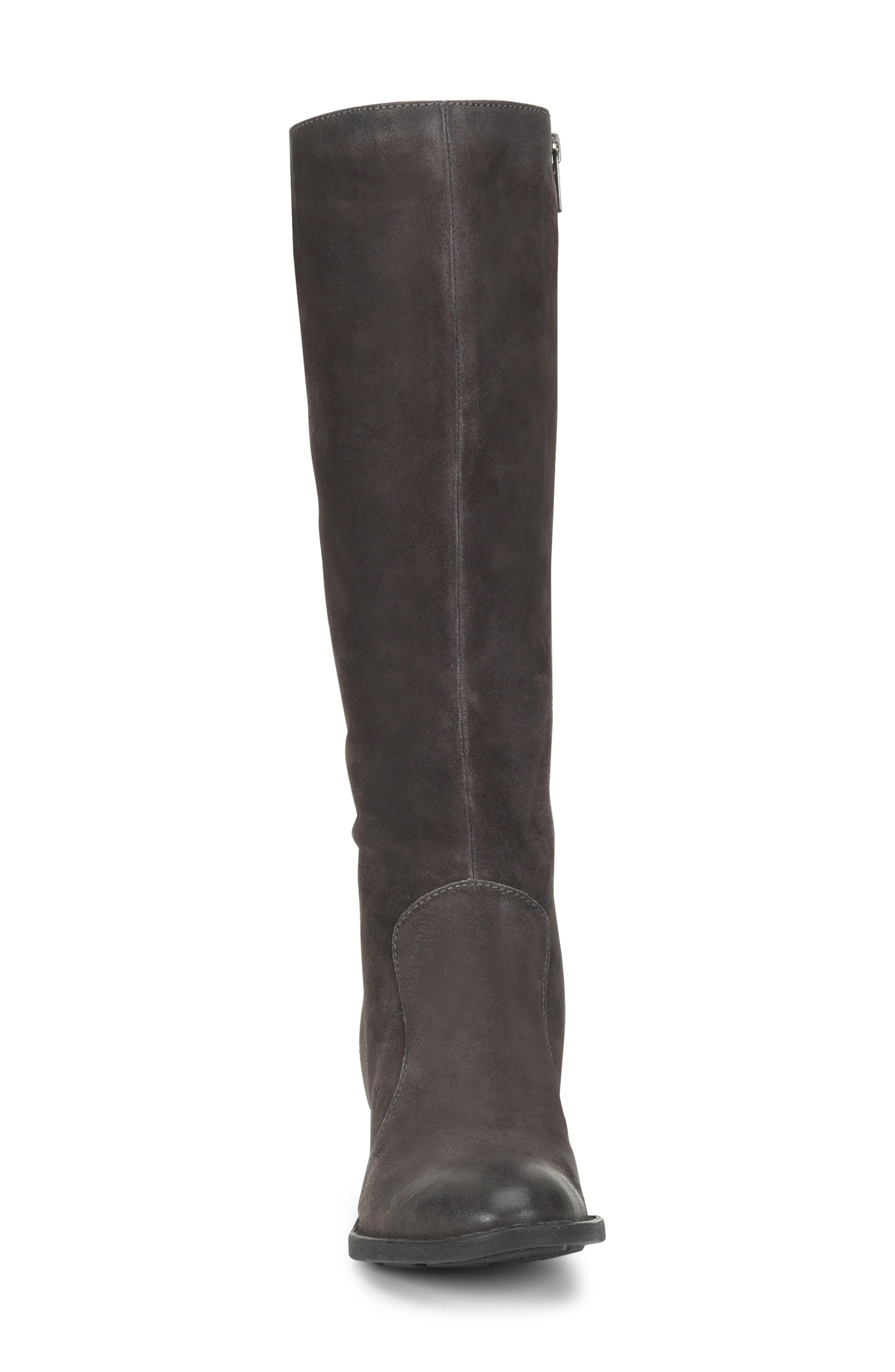 Felicia Knee High Boot,                             Alternate thumbnail 4, color,                             GREY DISTRESSED LEATHER