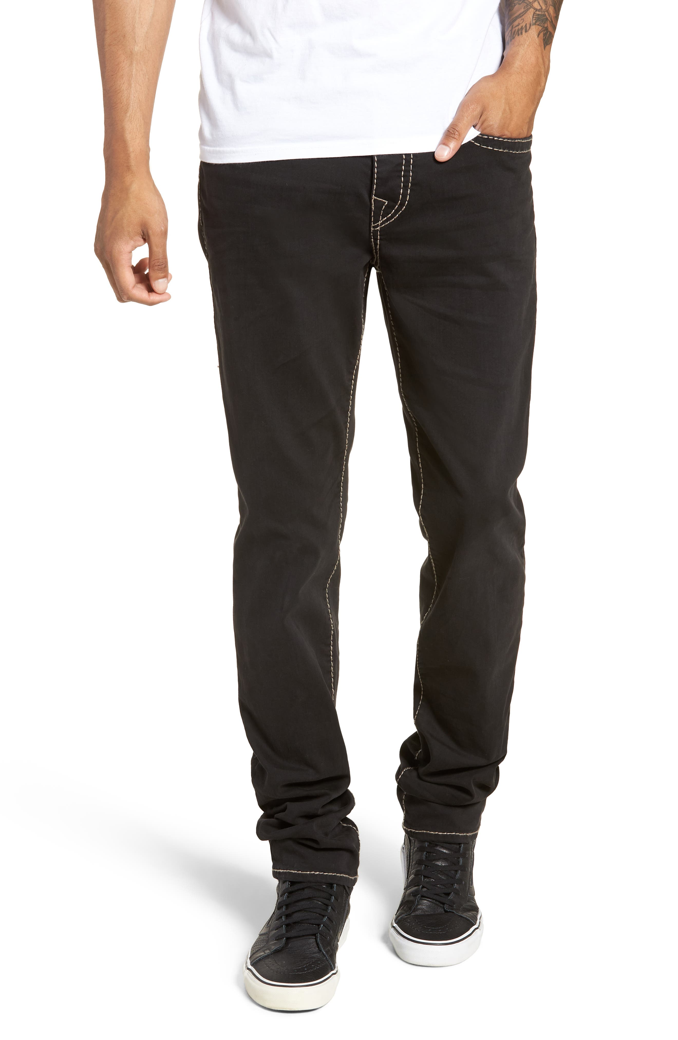 Rocco Skinny Fit Jeans,                             Main thumbnail 1, color,                             BLACK