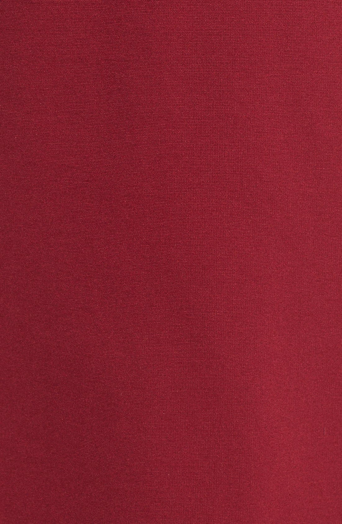 Scalloped V-Neck A-Line Dress,                             Alternate thumbnail 4, color,                             690