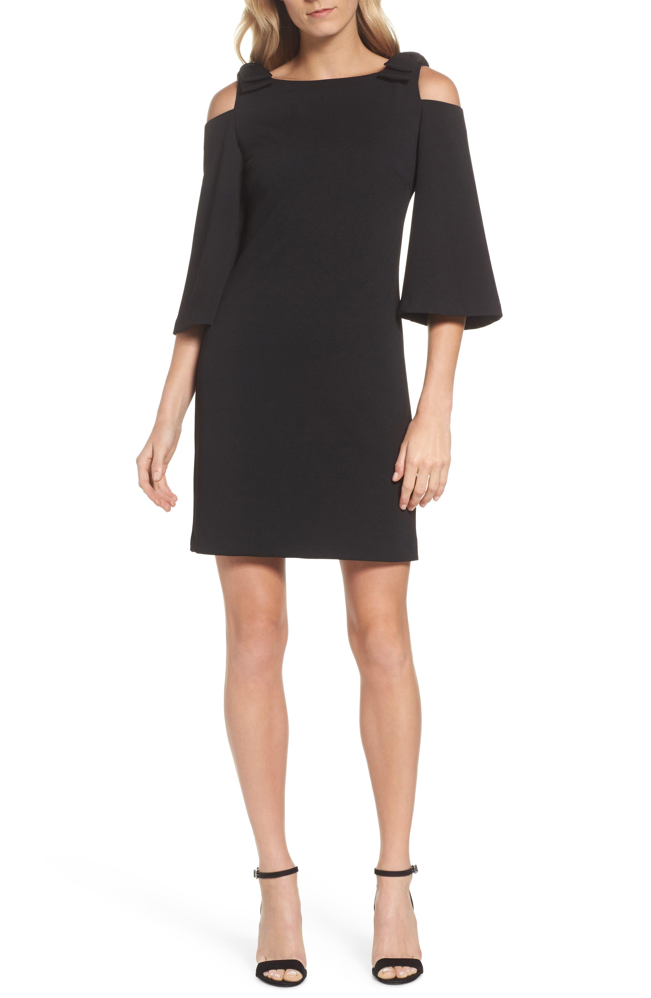 Aria Cold Shoulder Sheath Dress,                             Main thumbnail 1, color,                             001