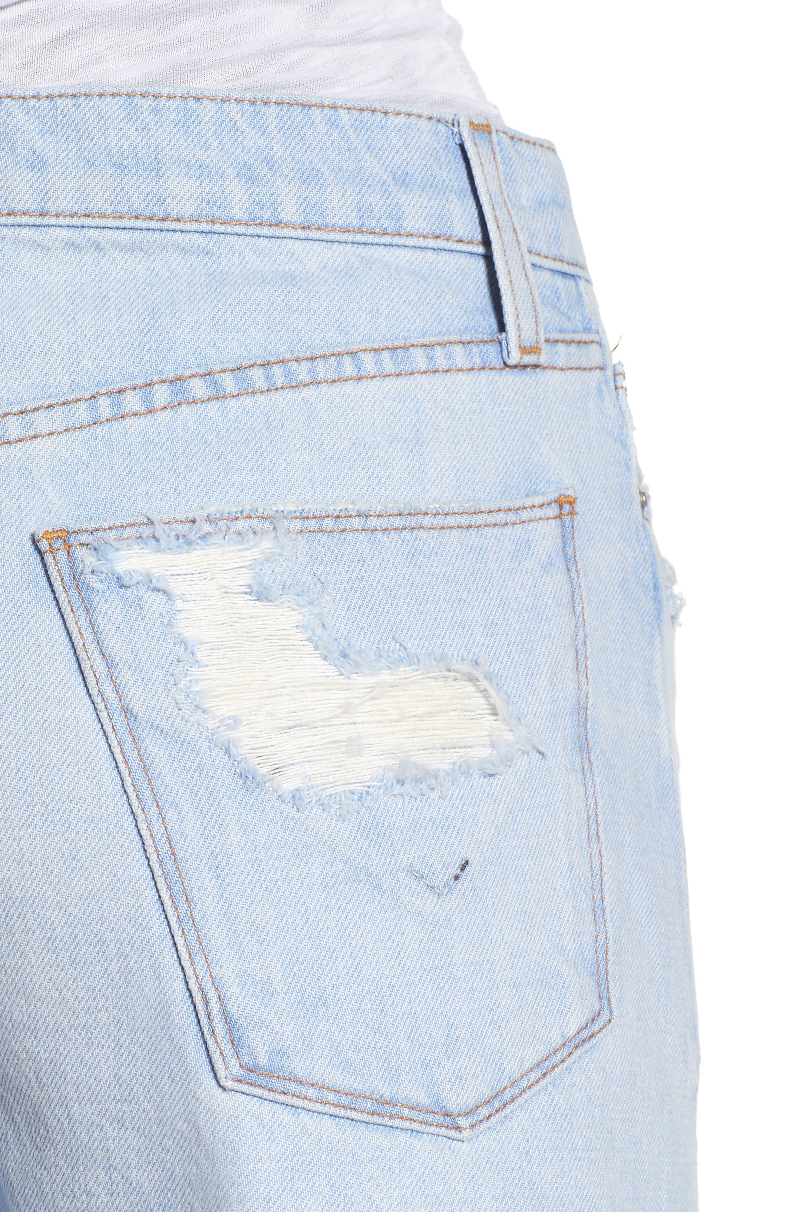 Sade Cutoff Denim Shorts,                             Alternate thumbnail 4, color,                             460