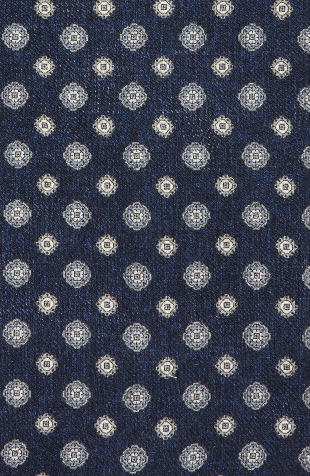 Medallion Wool Pocket Square,                             Alternate thumbnail 6, color,