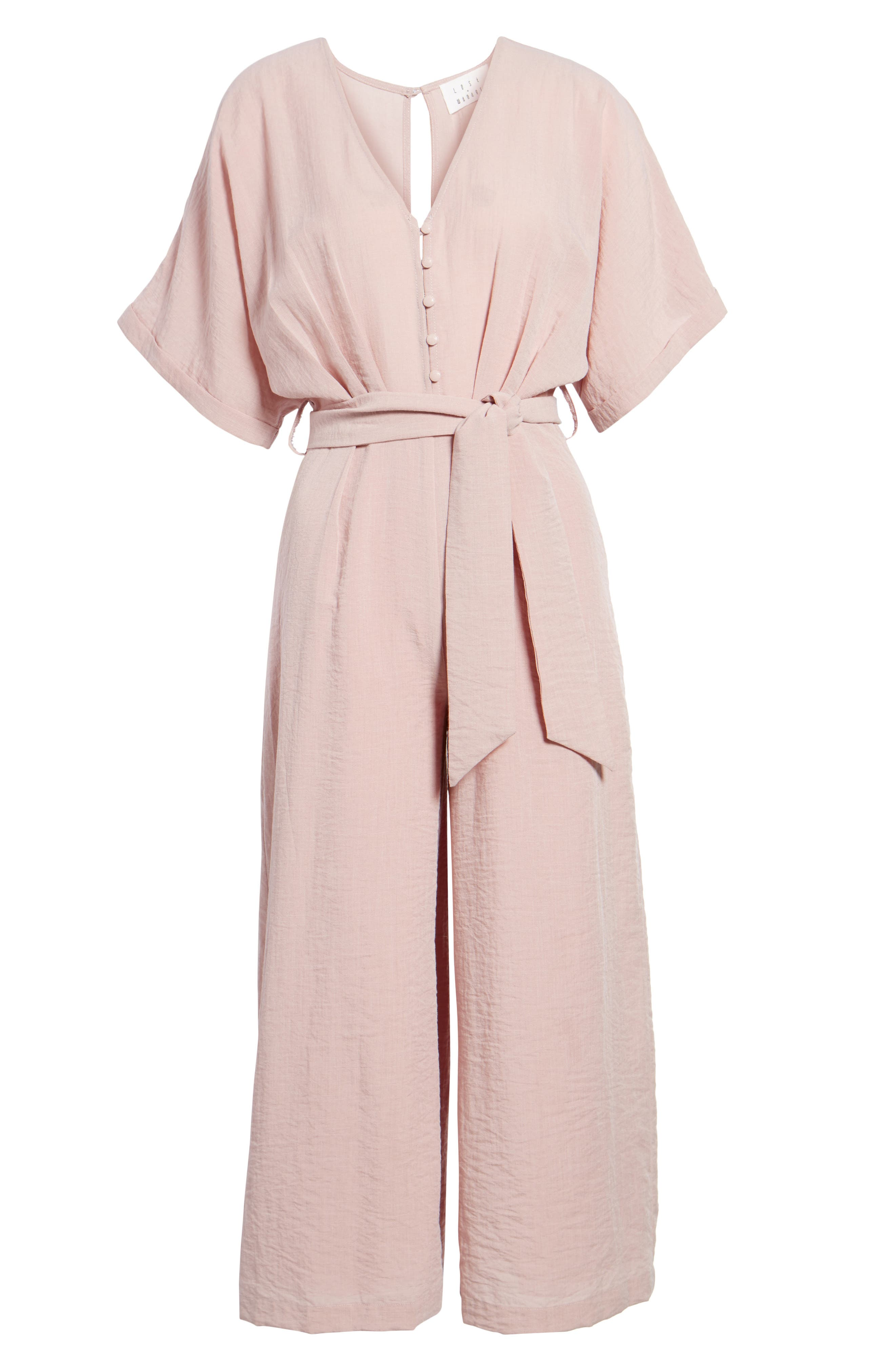 Peony Tie Waist Jumpsuit,                             Alternate thumbnail 6, color,                             681