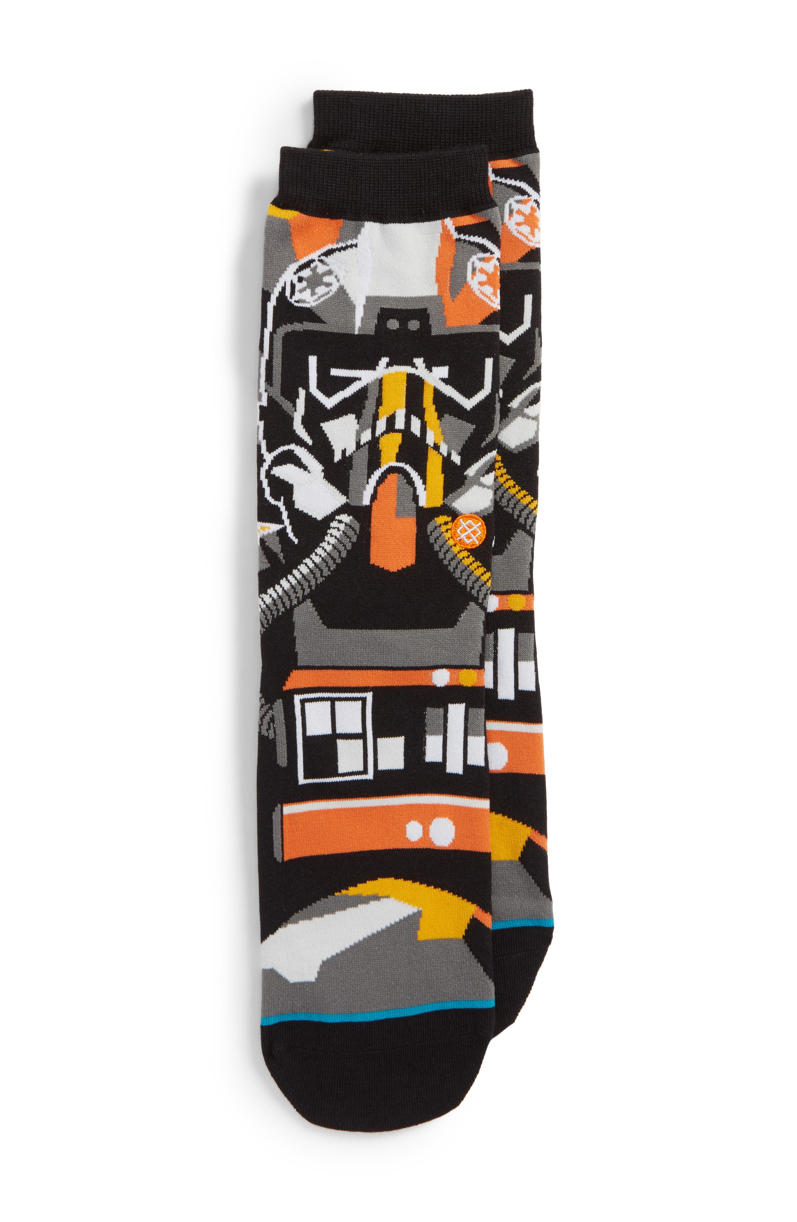 x Star Wars<sup>™</sup> Pilot Mosaic Socks,                         Main,                         color,