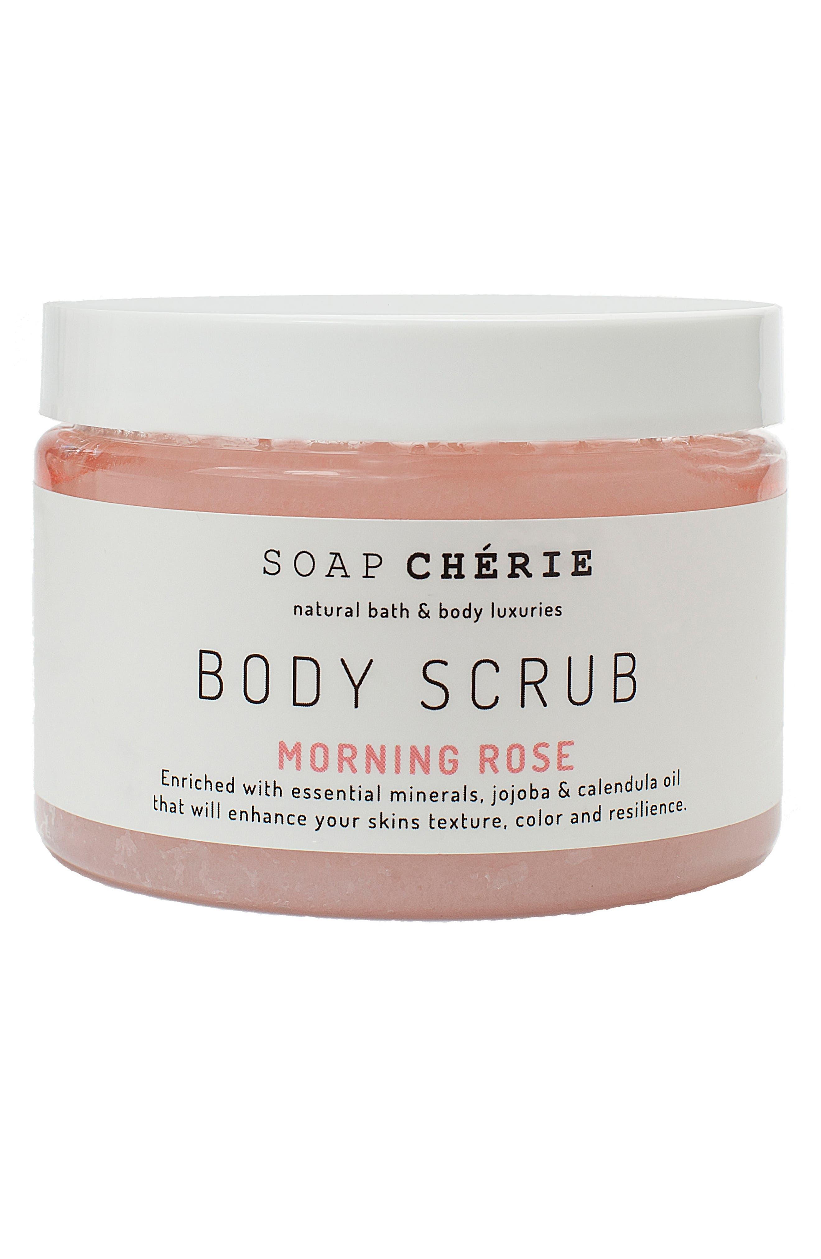 Soap Chérie Body Scrub,                             Main thumbnail 1, color,                             MORNING ROSE