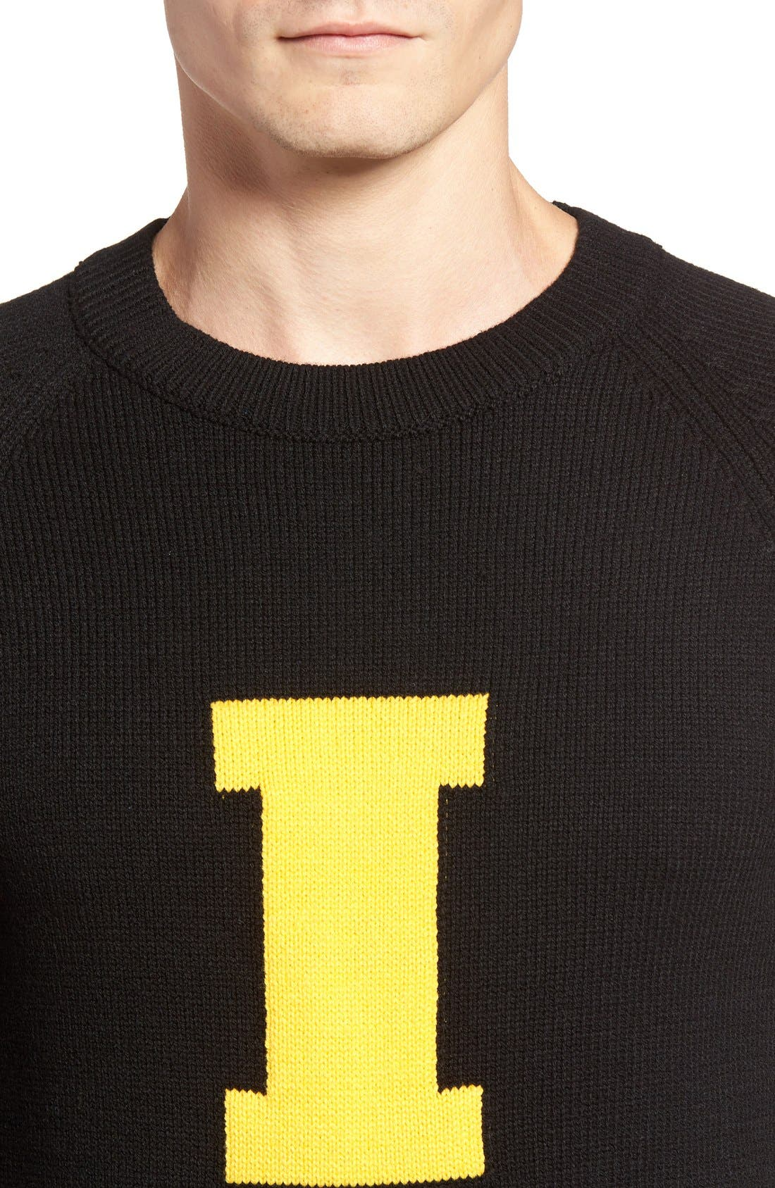 HILLFLINT,                             Iowa Heritage Sweater,                             Alternate thumbnail 4, color,                             001