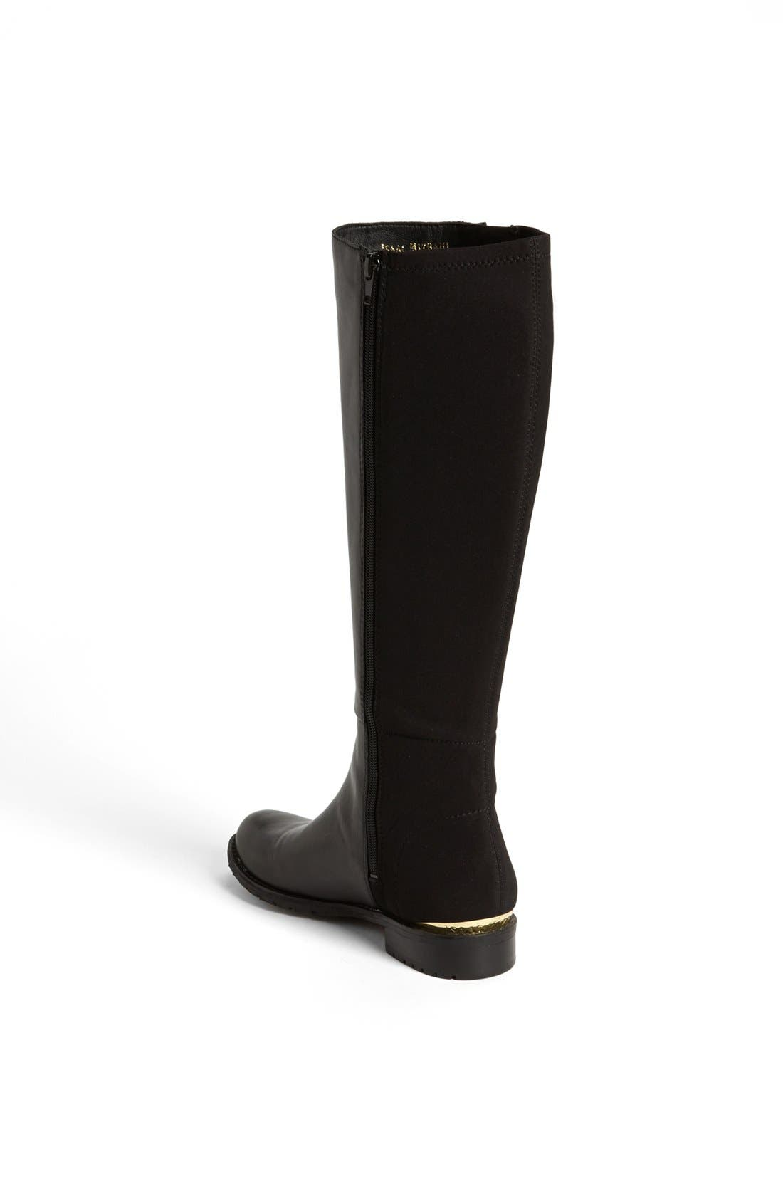 'Arno' Lycra<sup>®</sup> Stretch Boot,                             Alternate thumbnail 3, color,                             001