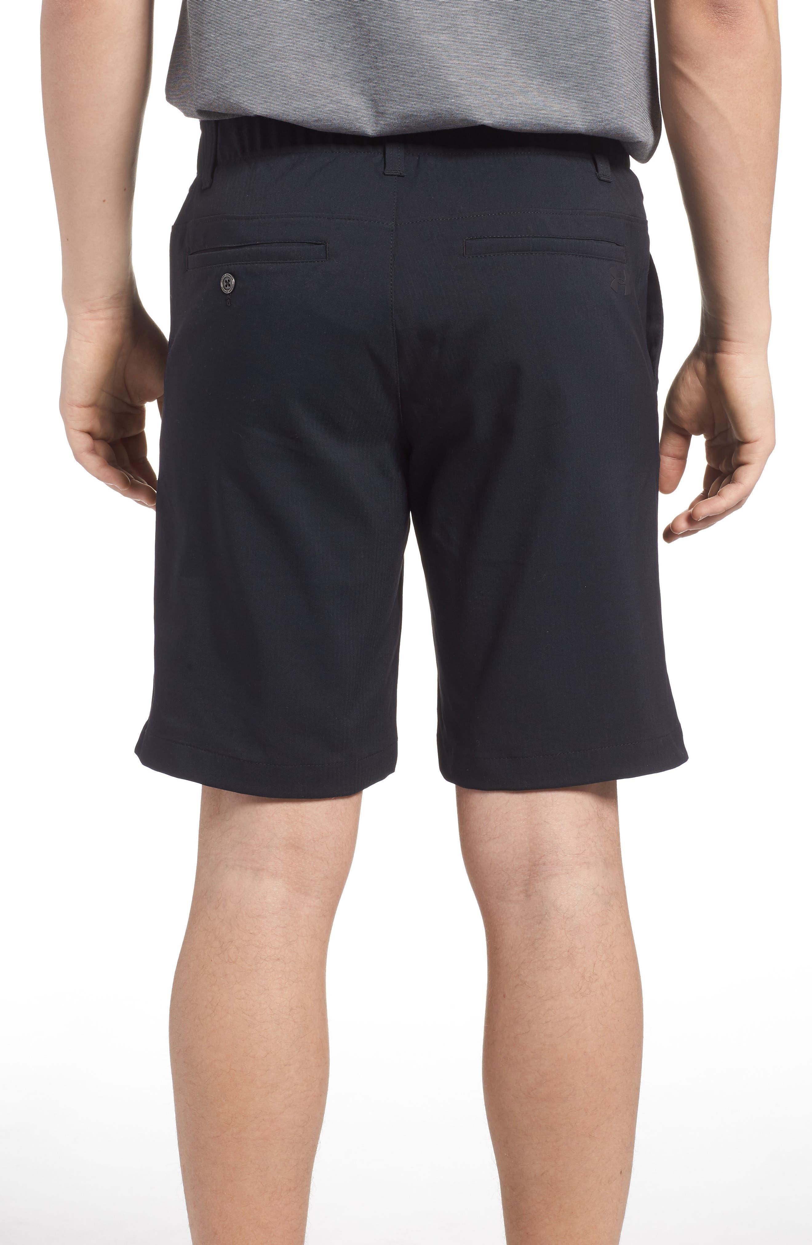 Takeover Regular Fit Golf Shorts,                             Alternate thumbnail 2, color,                             BLACK
